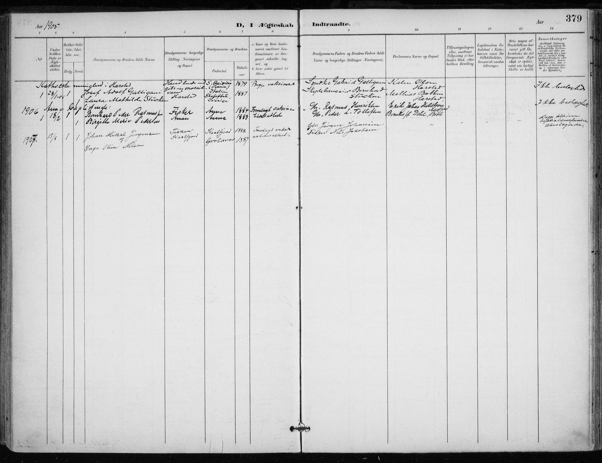 SATØ, Trondenes sokneprestkontor, H/Ha/L0017kirke: Ministerialbok nr. 17, 1899-1908, s. 379