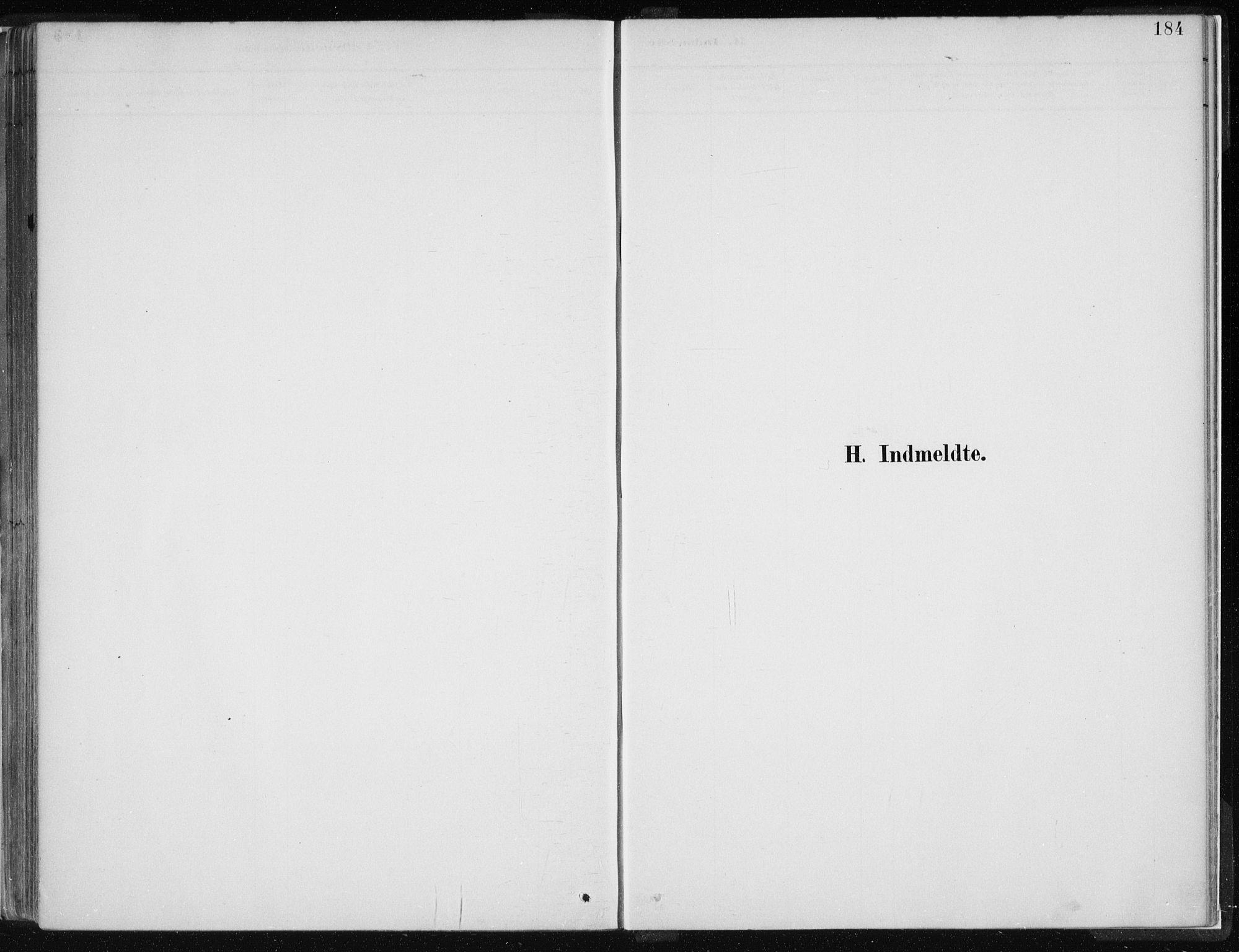 SAB, Hamre sokneprestembete, H/Ha/Haa: Ministerialbok nr. D  1, 1882-1906, s. 184