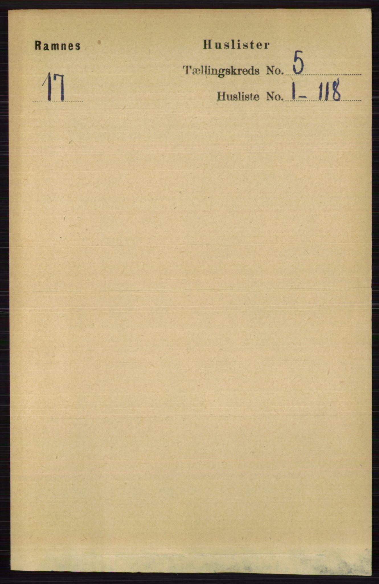 RA, Folketelling 1891 for 0718 Ramnes herred, 1891, s. 2423