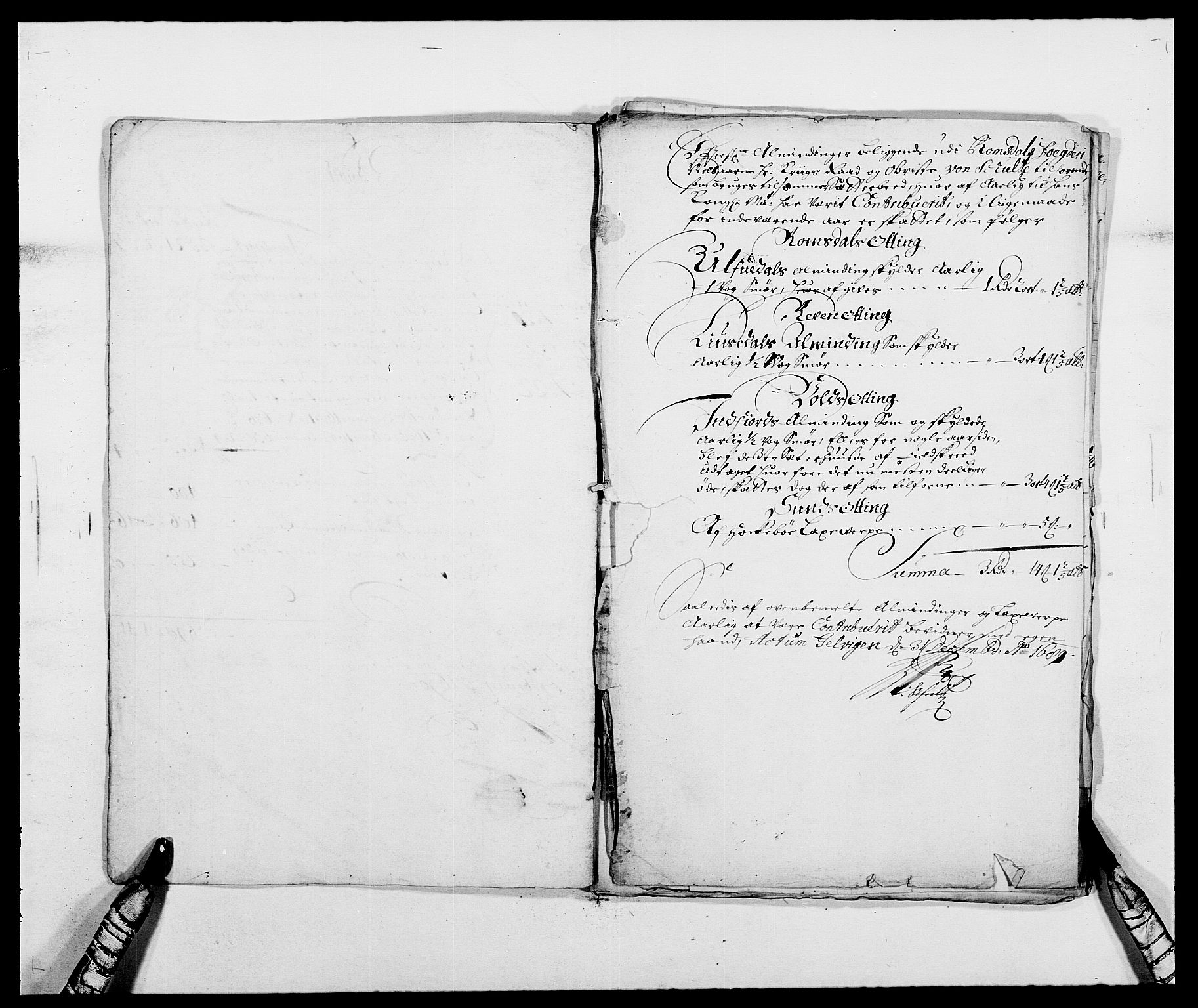 RA, Rentekammeret inntil 1814, Reviderte regnskaper, Fogderegnskap, R55/L3648: Fogderegnskap Romsdal, 1687-1689, s. 316