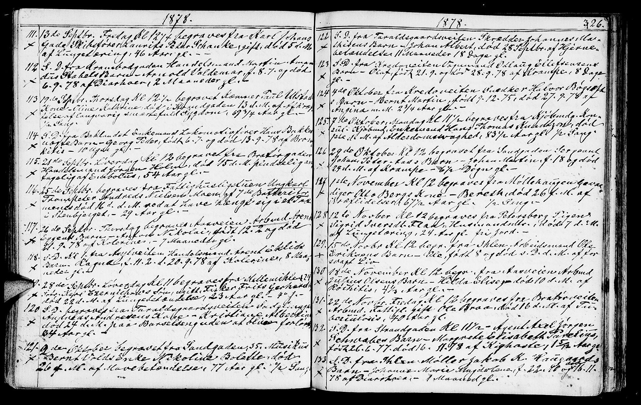 SAT, Ministerialprotokoller, klokkerbøker og fødselsregistre - Sør-Trøndelag, 602/L0142: Klokkerbok nr. 602C10, 1872-1894, s. 326