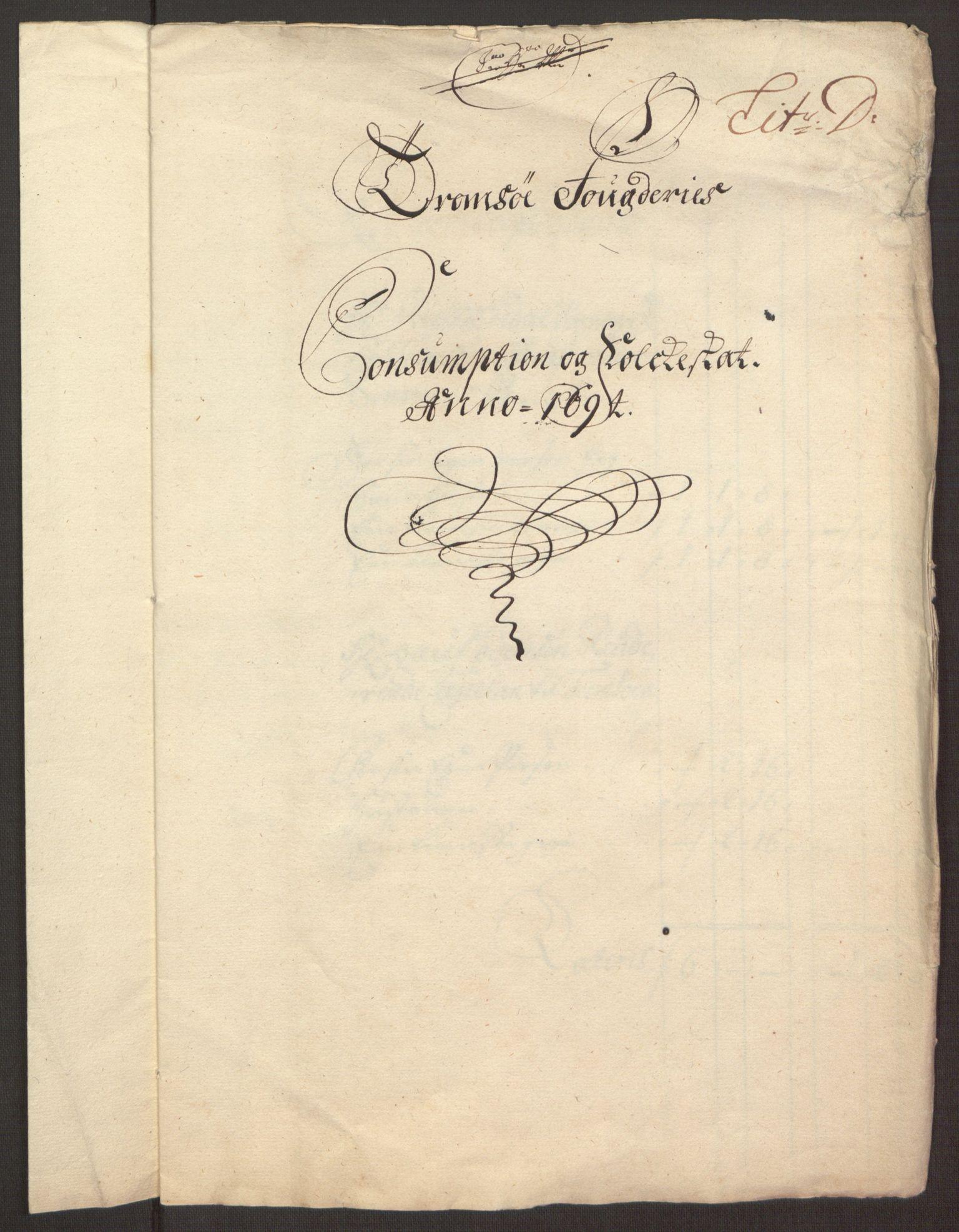 RA, Rentekammeret inntil 1814, Reviderte regnskaper, Fogderegnskap, R68/L4753: Fogderegnskap Senja og Troms, 1694-1696, s. 204