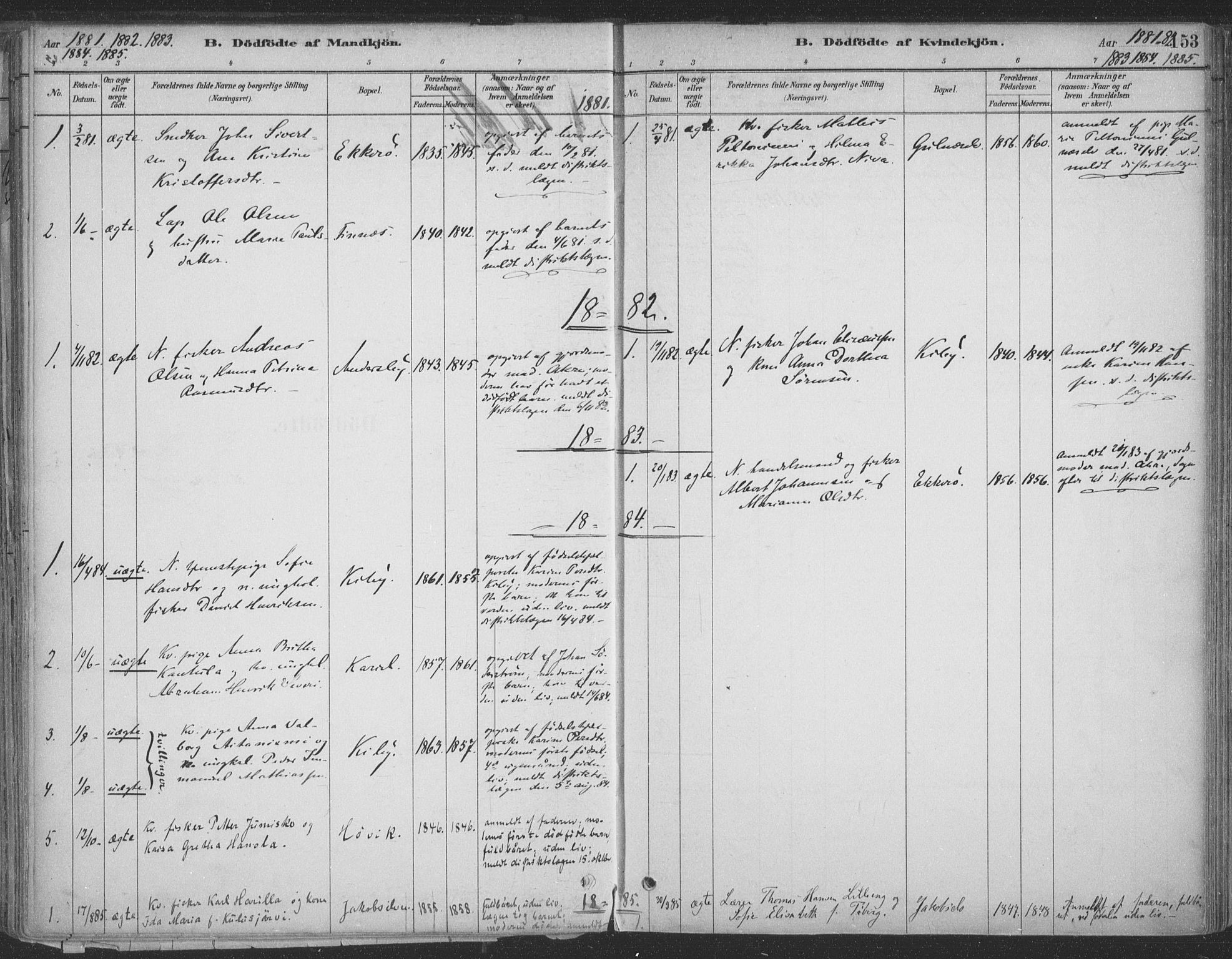SATØ, Vadsø sokneprestkontor, H/Ha/L0009kirke: Ministerialbok nr. 9, 1881-1917, s. 153