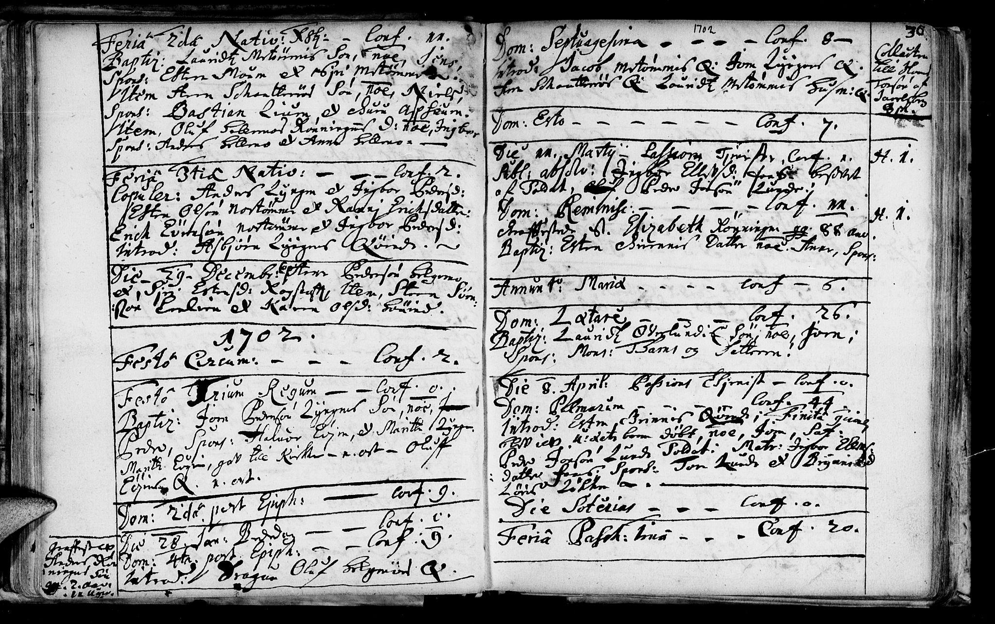 SAT, Ministerialprotokoller, klokkerbøker og fødselsregistre - Sør-Trøndelag, 692/L1101: Ministerialbok nr. 692A01, 1690-1746, s. 36