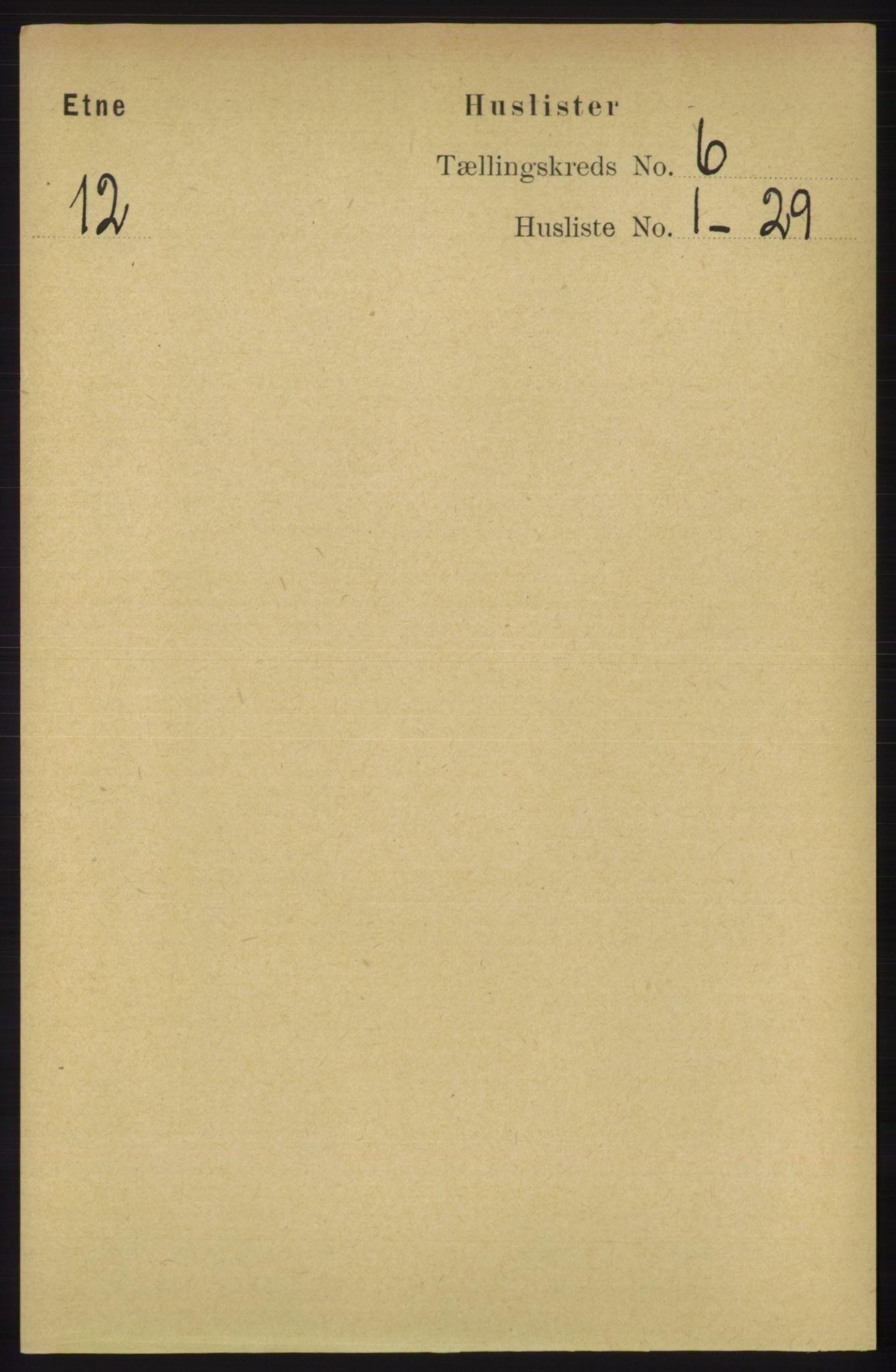 RA, Folketelling 1891 for 1211 Etne herred, 1891, s. 1181