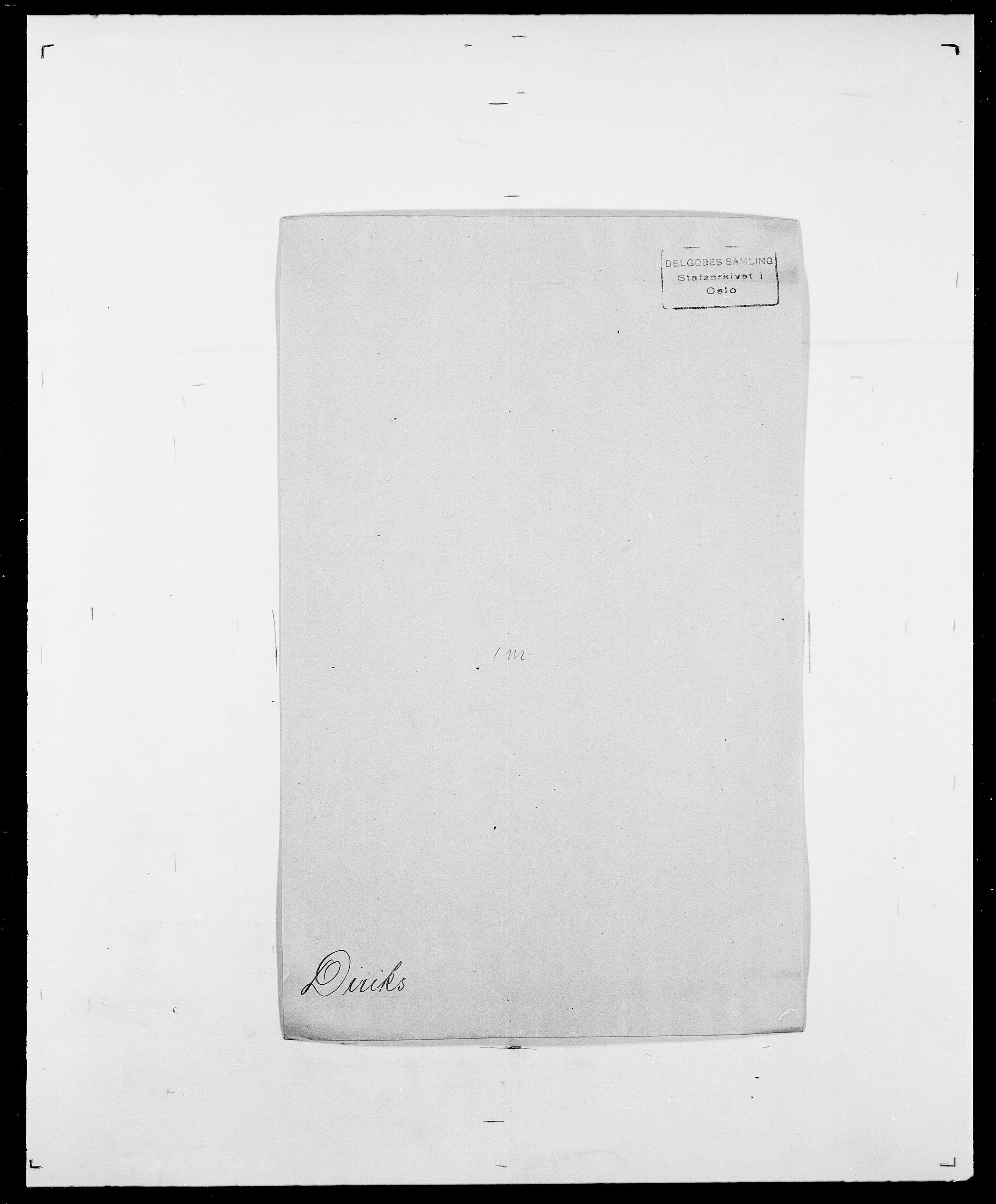 SAO, Delgobe, Charles Antoine - samling, D/Da/L0009: Dahl - v. Düren, s. 583