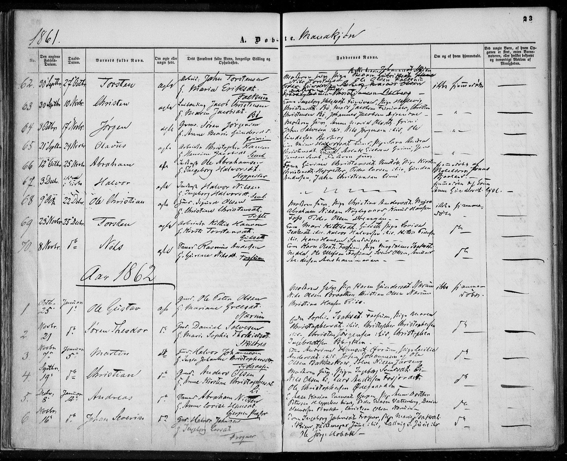 SAKO, Gjerpen kirkebøker, F/Fa/L0008a: Ministerialbok nr. 8A, 1857-1871, s. 23