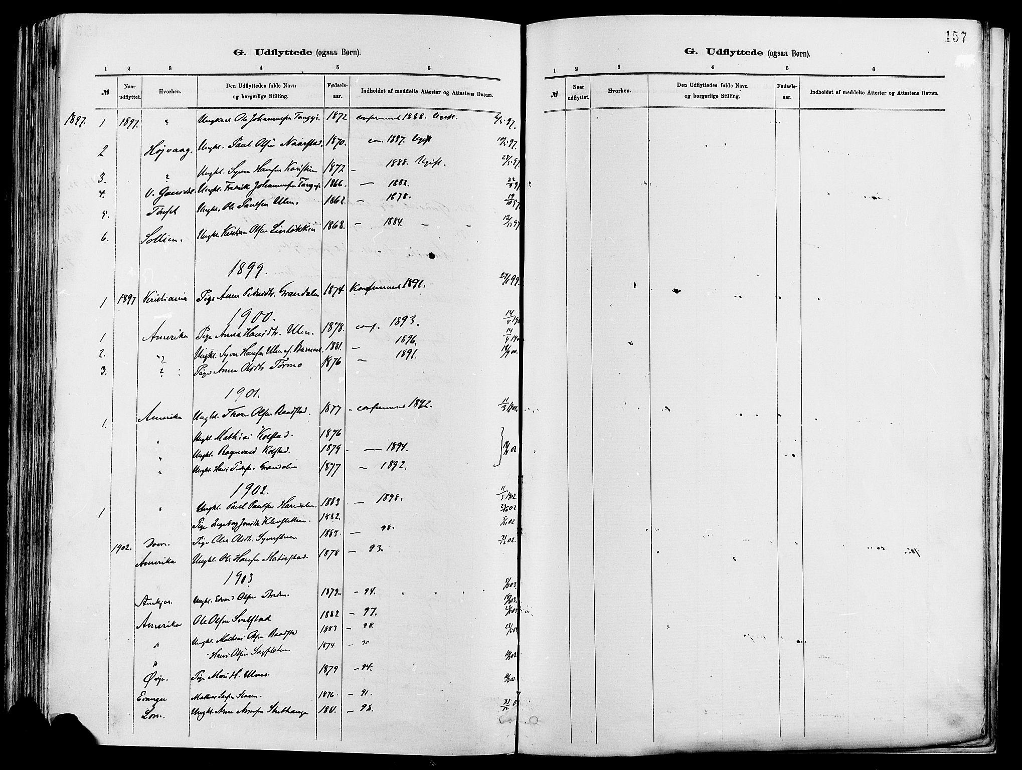 SAH, Vågå prestekontor, Ministerialbok nr. 8, 1886-1904, s. 157