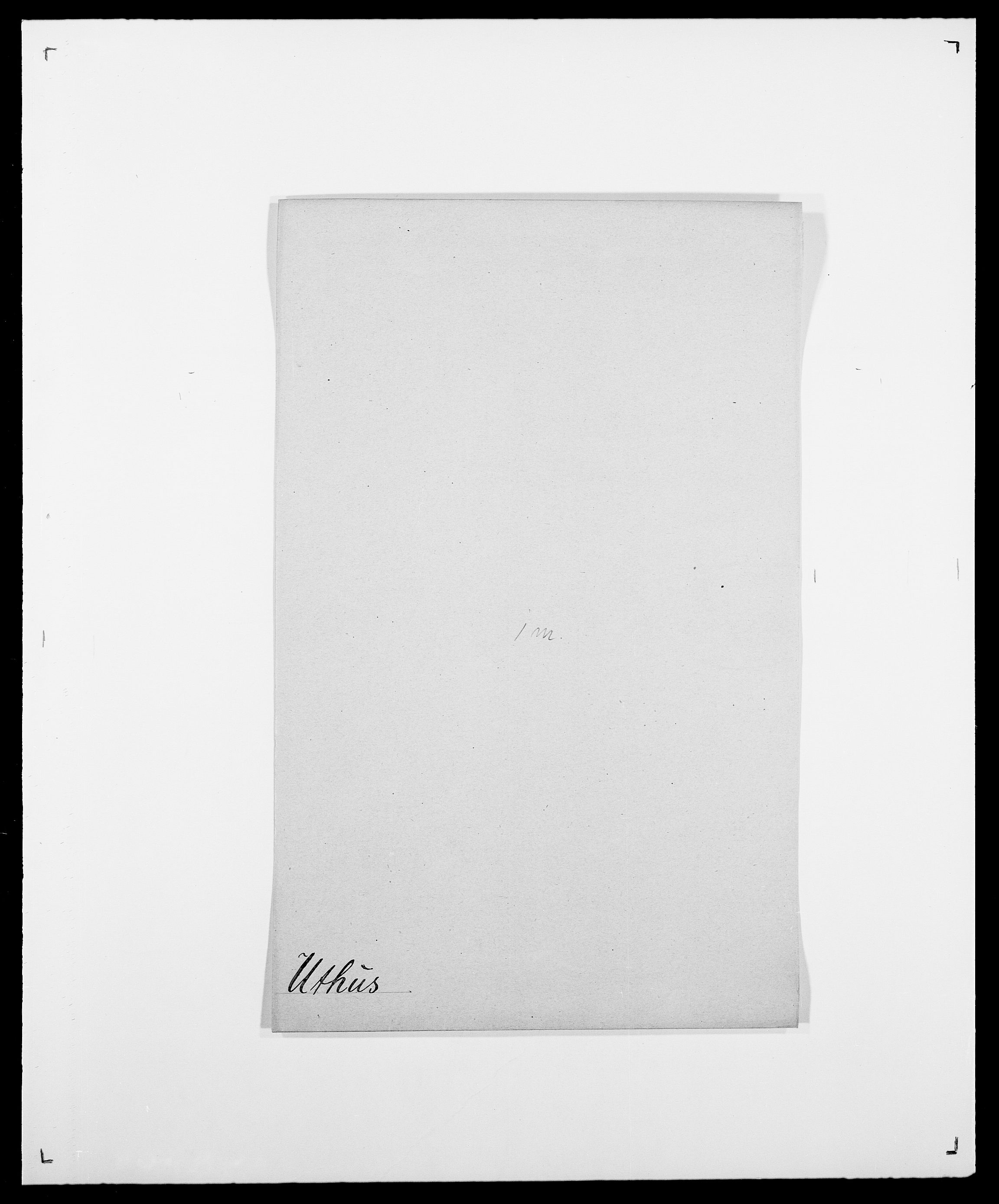 SAO, Delgobe, Charles Antoine - samling, D/Da/L0040: Usgaard - Velund, s. 17