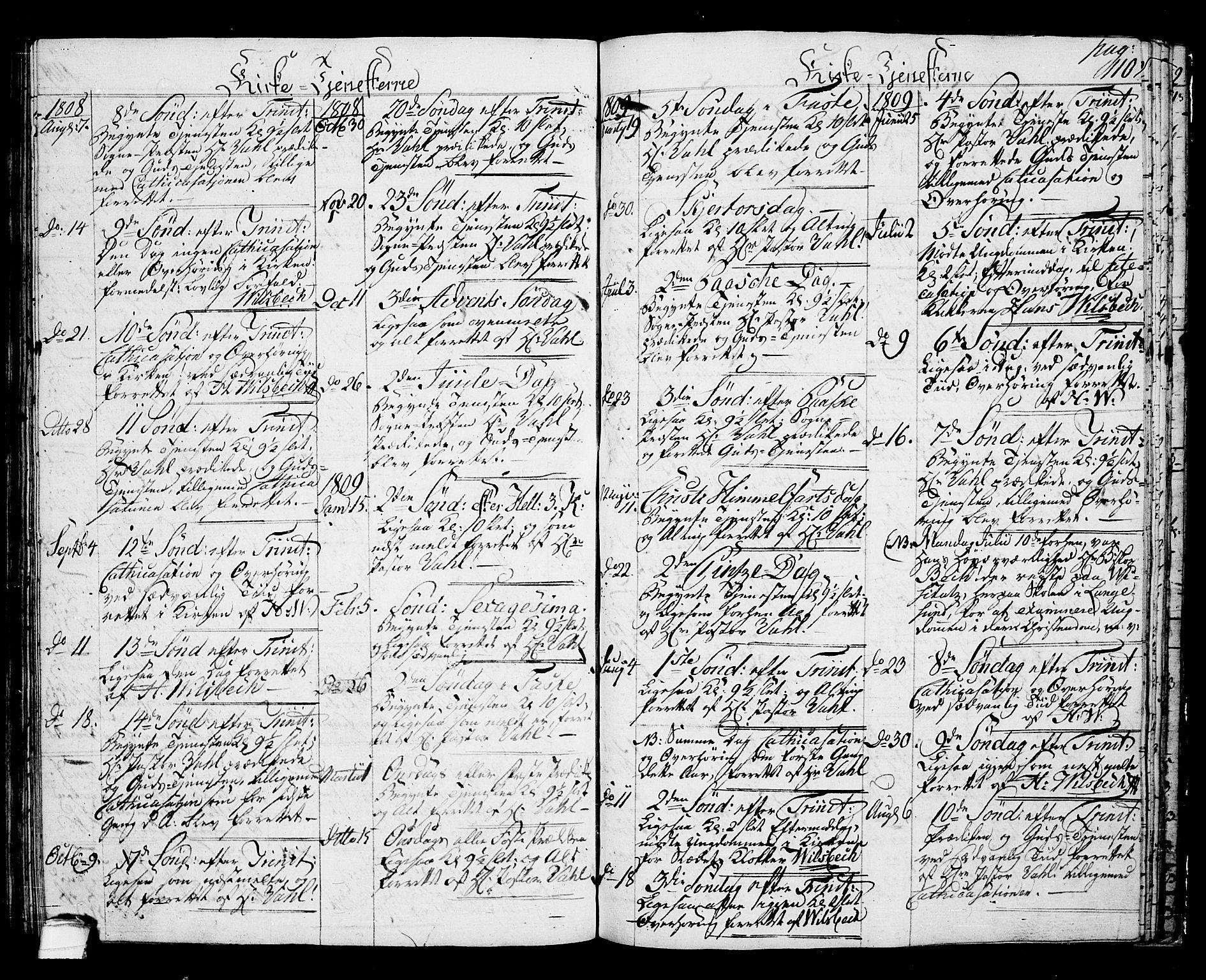 SAKO, Langesund kirkebøker, G/Ga/L0002: Klokkerbok nr. 2, 1801-1815, s. 110