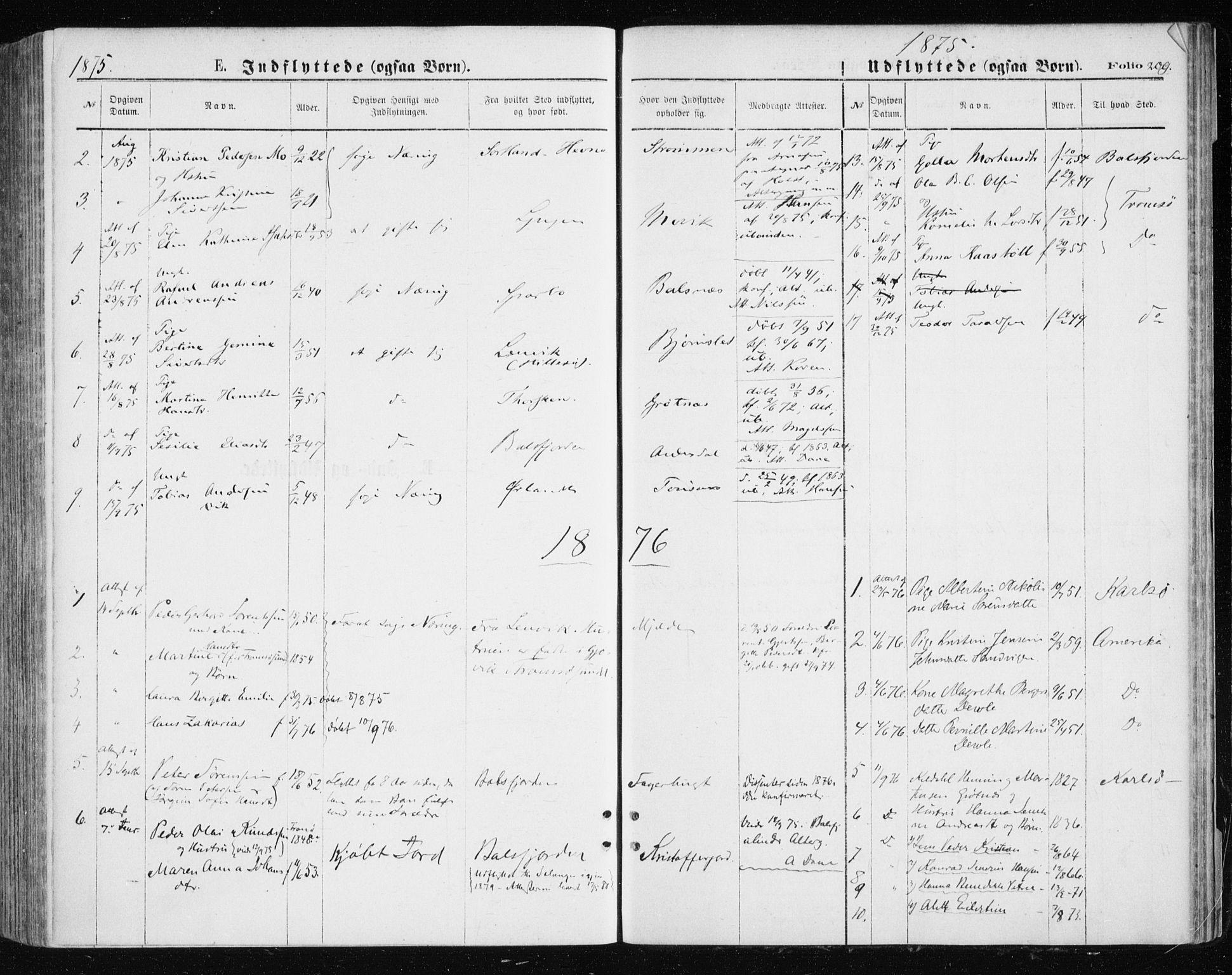 SATØ, Tromsøysund sokneprestkontor, G/Ga/L0003kirke: Ministerialbok nr. 3, 1875-1880, s. 209