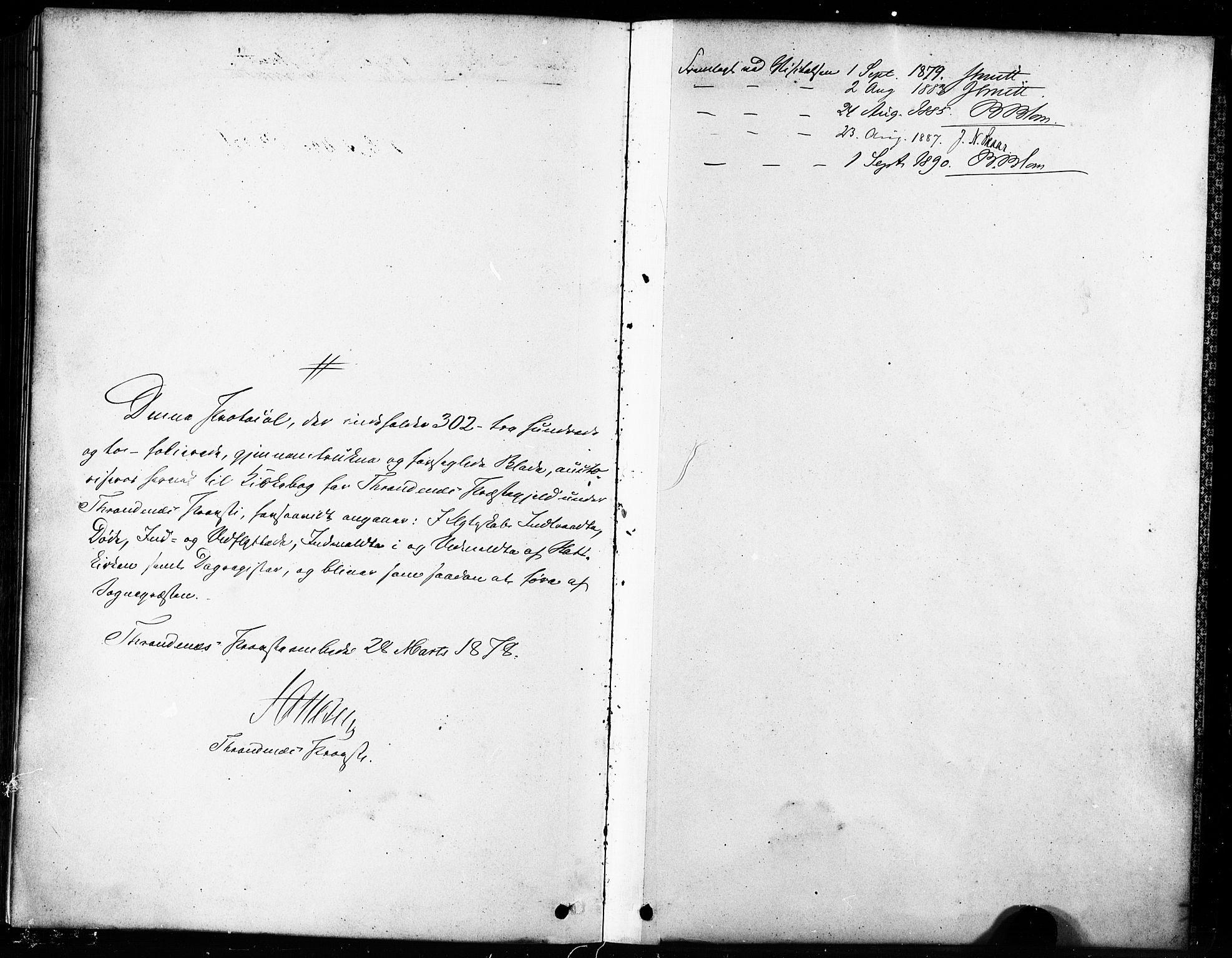 SATØ, Trondenes sokneprestkontor, H/Ha/L0015kirke: Ministerialbok nr. 15, 1878-1889