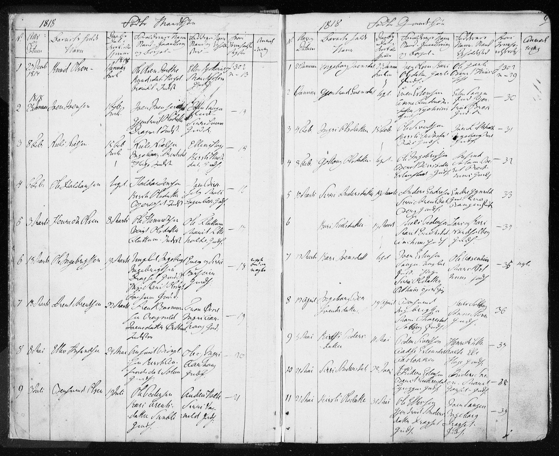 SAT, Ministerialprotokoller, klokkerbøker og fødselsregistre - Sør-Trøndelag, 689/L1043: Klokkerbok nr. 689C02, 1816-1892, s. 6