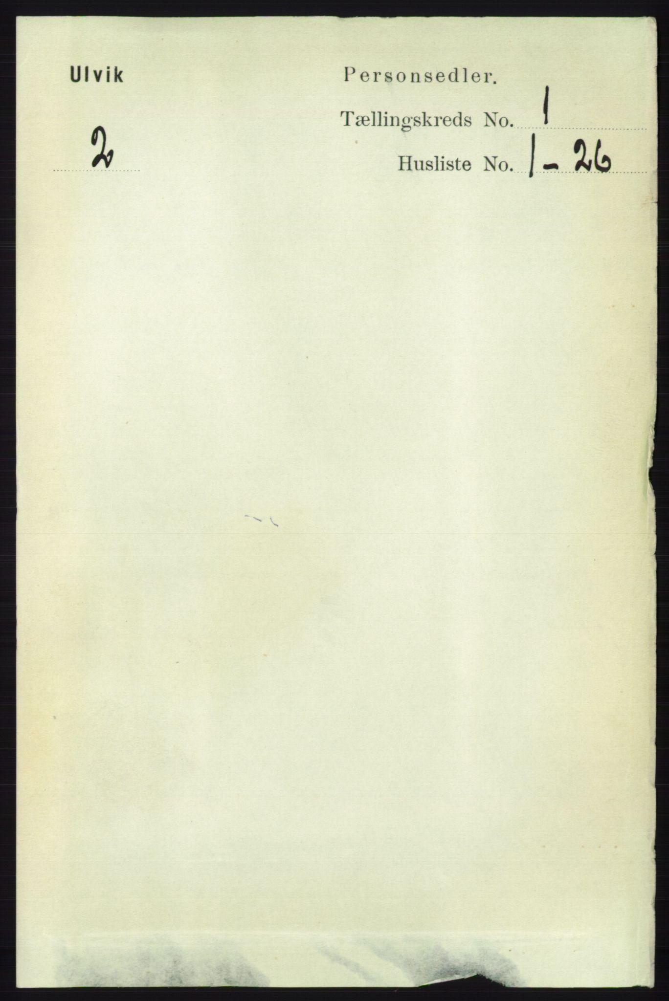 RA, Folketelling 1891 for 1233 Ulvik herred, 1891, s. 67