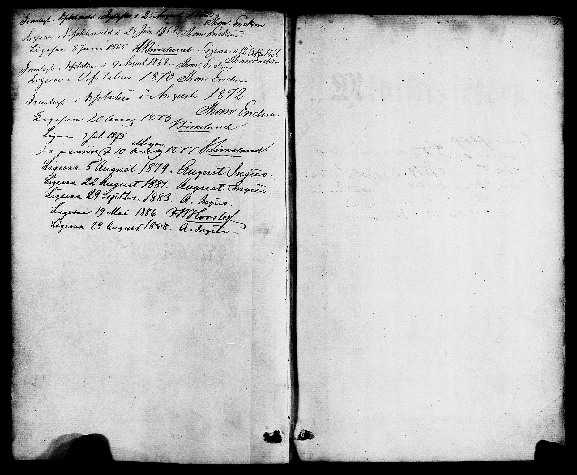 SAB, Hyllestad Sokneprestembete, Ministerialbok nr. A 1, 1861-1886, s. 1