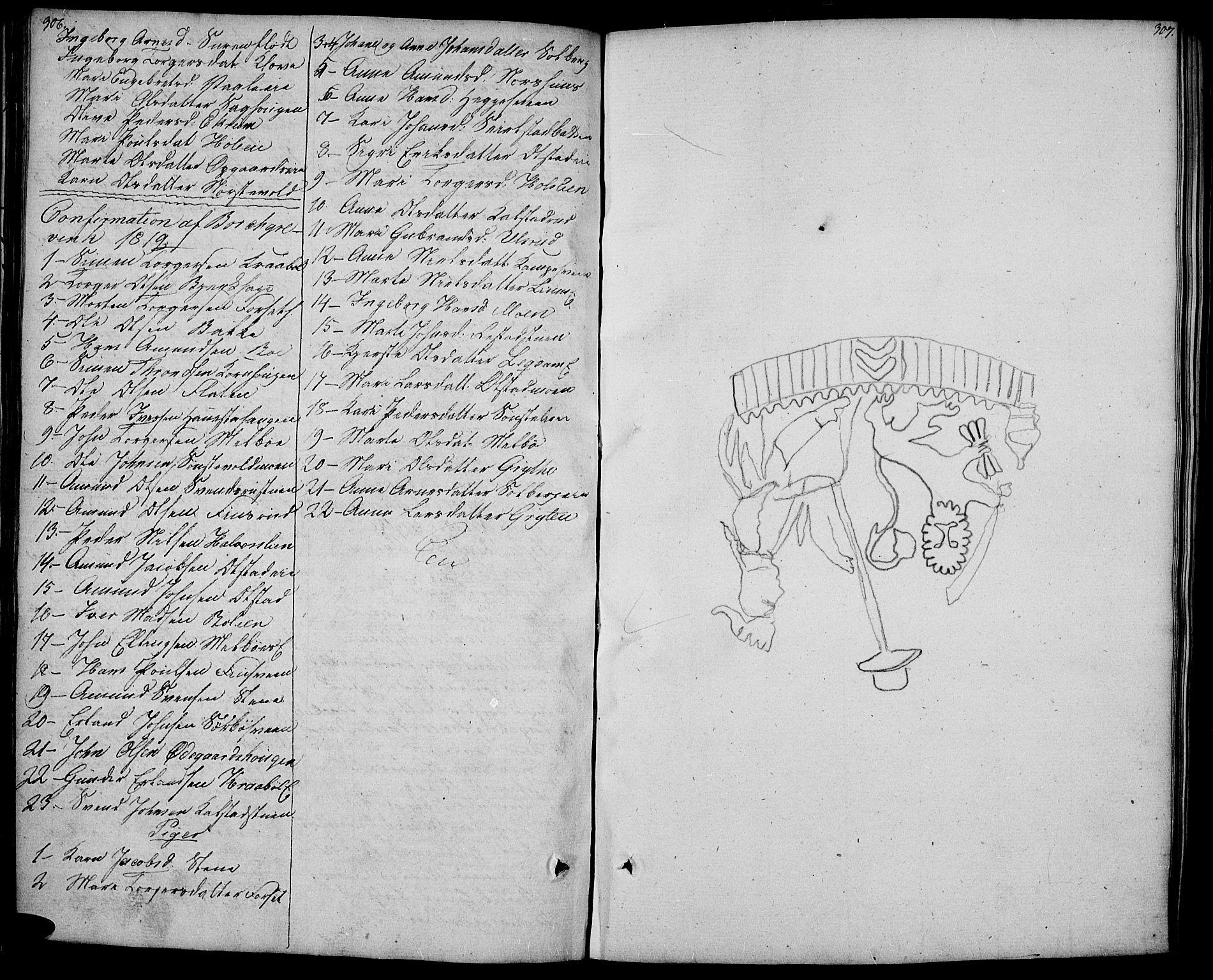 SAH, Gausdal prestekontor, Ministerialbok nr. 4, 1809-1817, s. 306-307