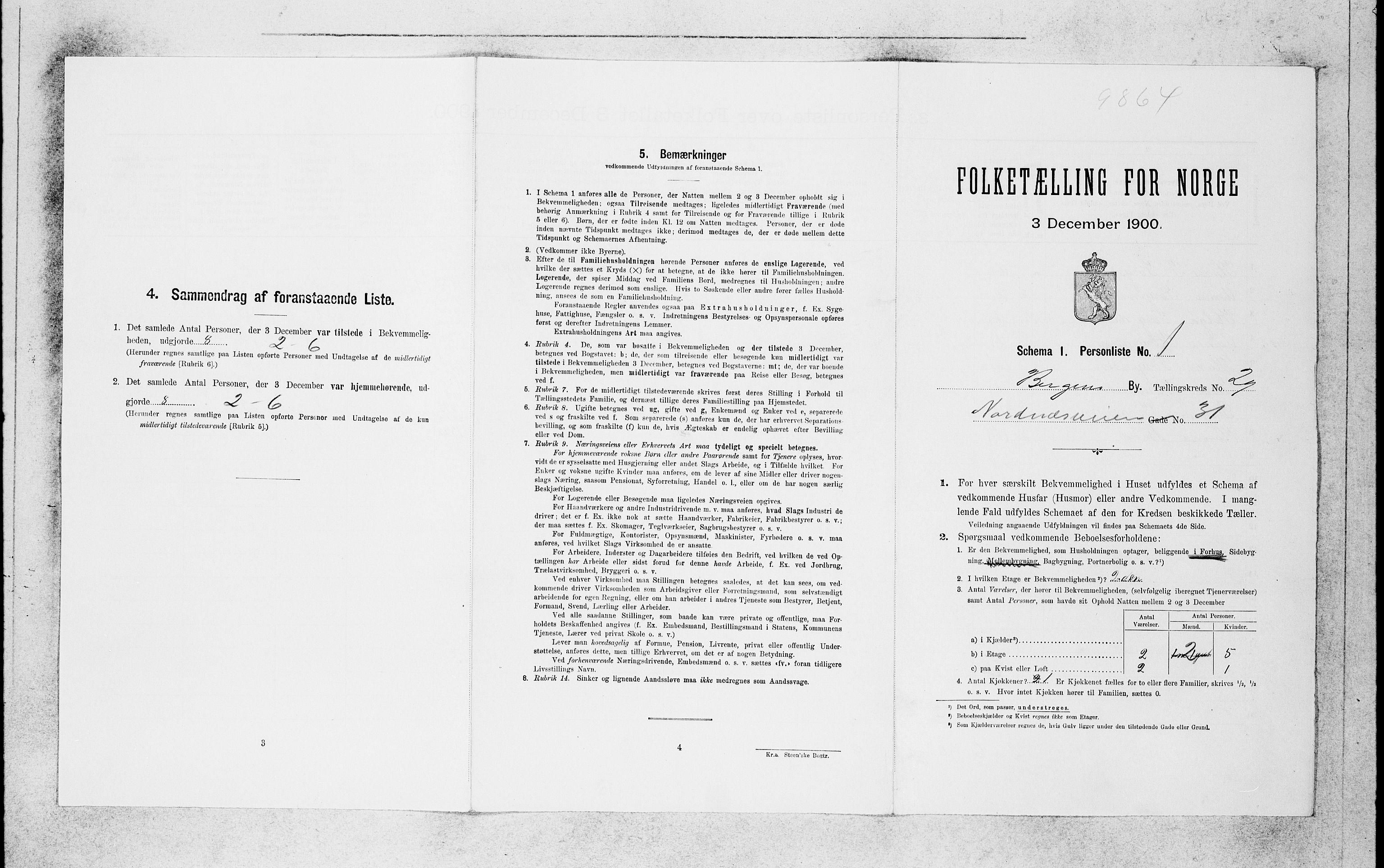 SAB, Folketelling 1900 for 1301 Bergen kjøpstad, 1900, s. 6248