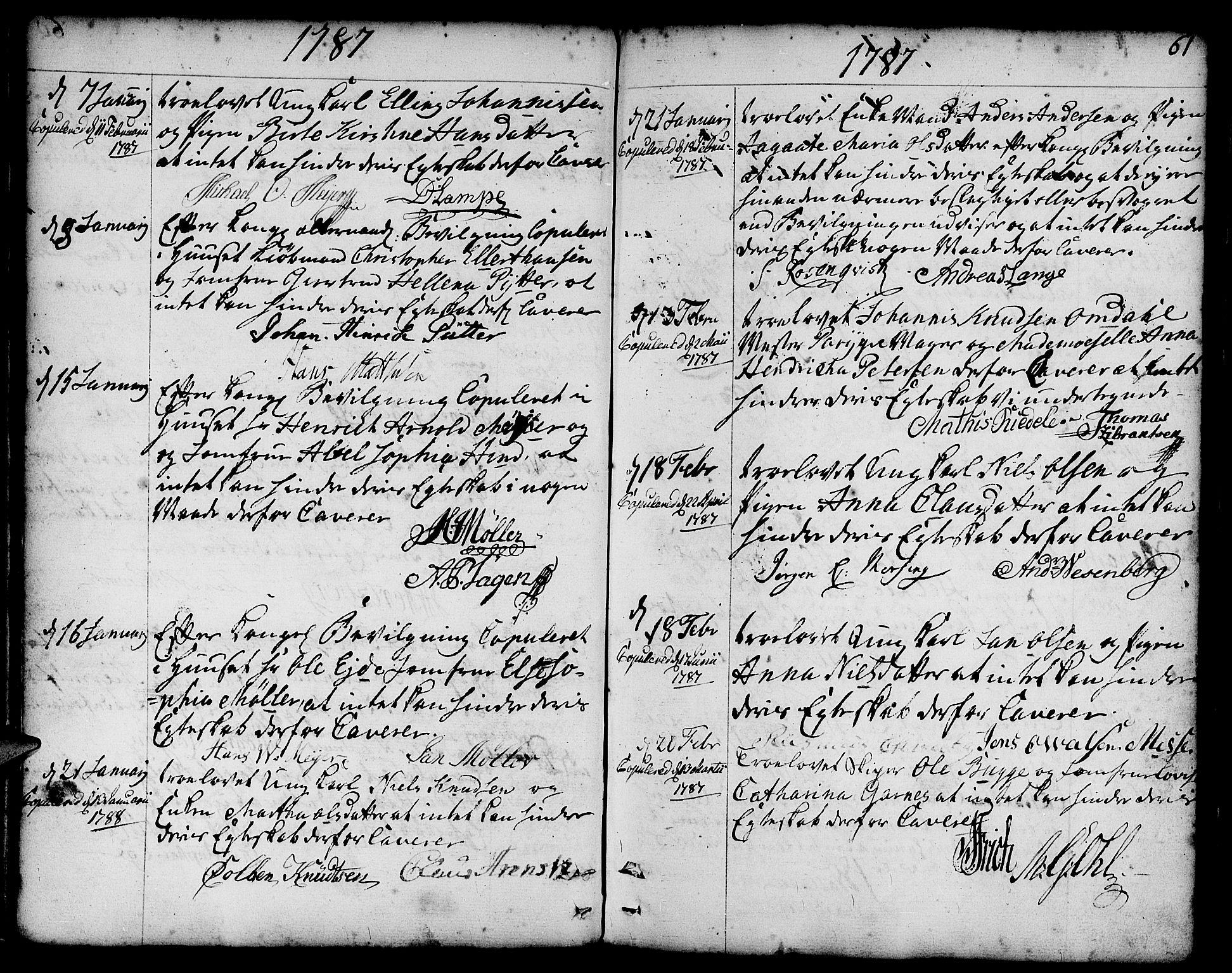 SAB, Nykirken Sokneprestembete, H/Haa: Ministerialbok nr. A 8, 1776-1814, s. 61