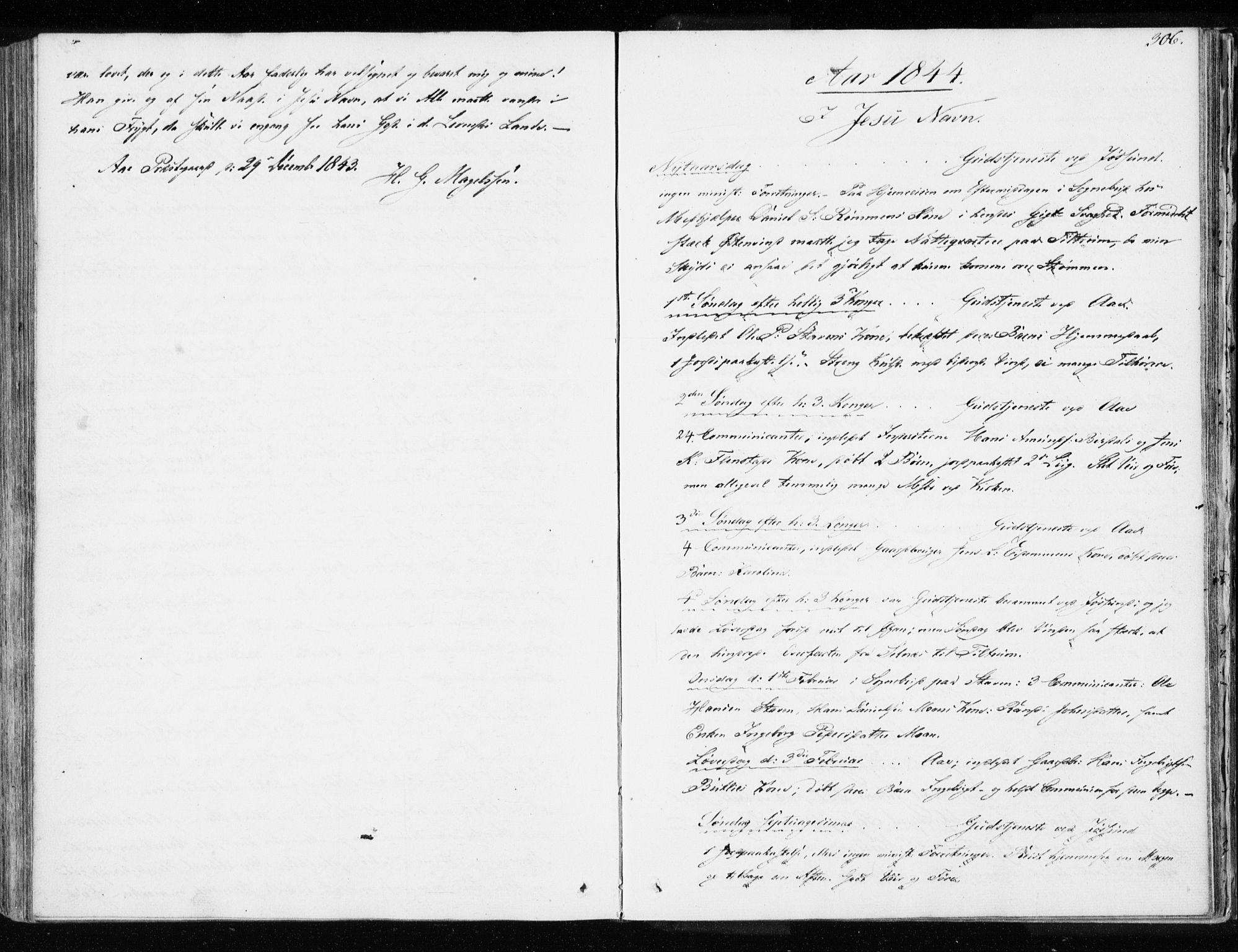 SAT, Ministerialprotokoller, klokkerbøker og fødselsregistre - Sør-Trøndelag, 655/L0676: Ministerialbok nr. 655A05, 1830-1847, s. 306