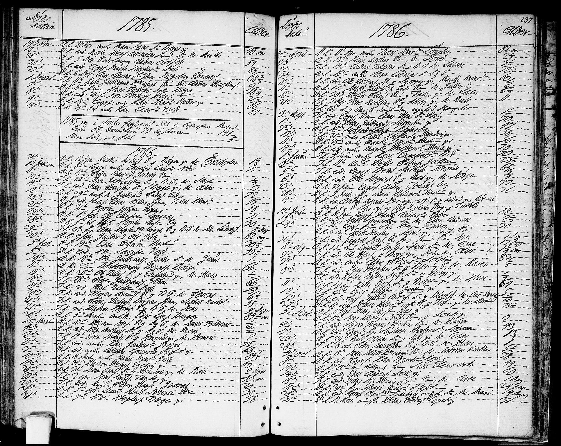 SAO, Asker prestekontor Kirkebøker, F/Fa/L0003: Ministerialbok nr. I 3, 1767-1807, s. 237