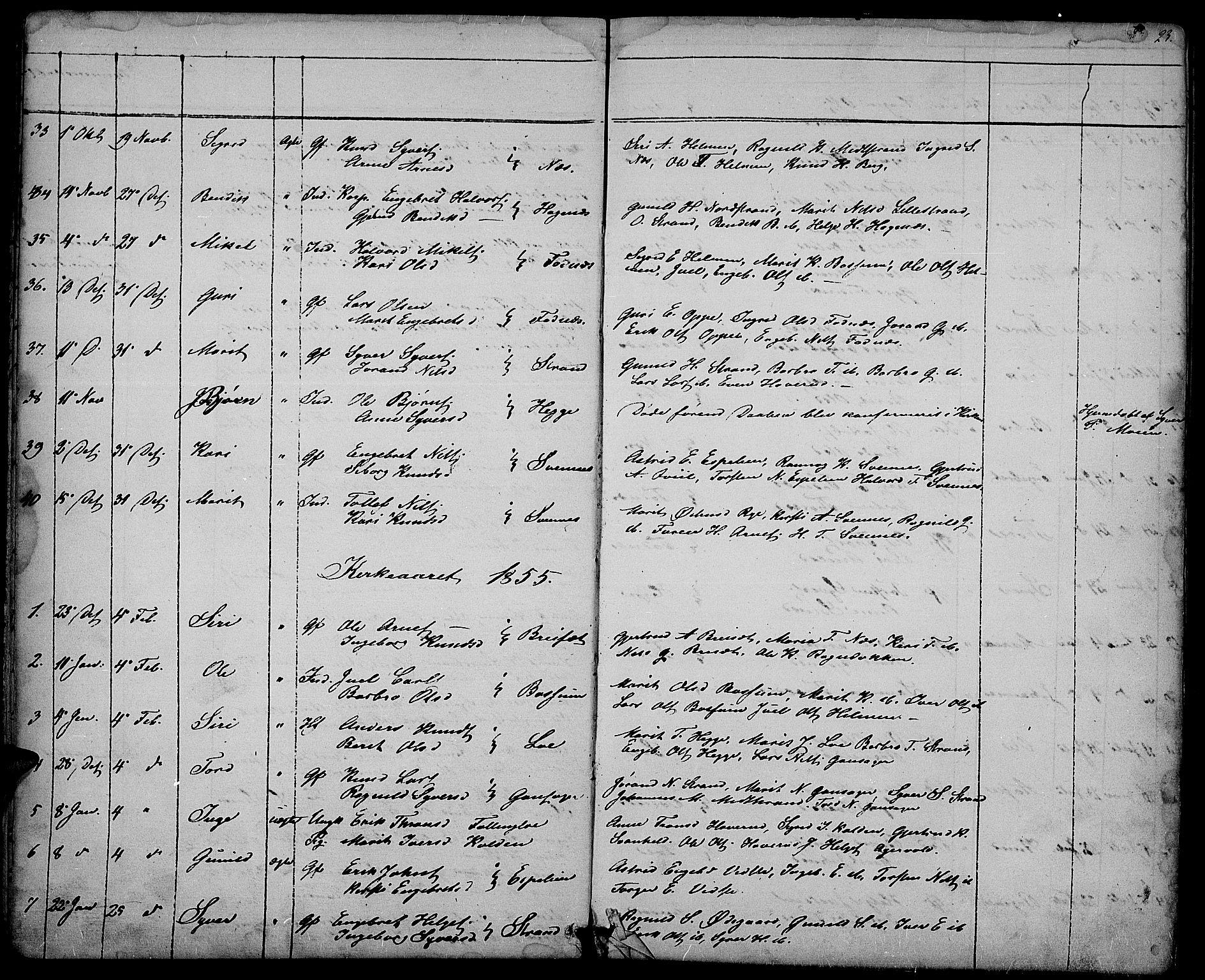 SAH, Nord-Aurdal prestekontor, Klokkerbok nr. 3, 1842-1882, s. 23