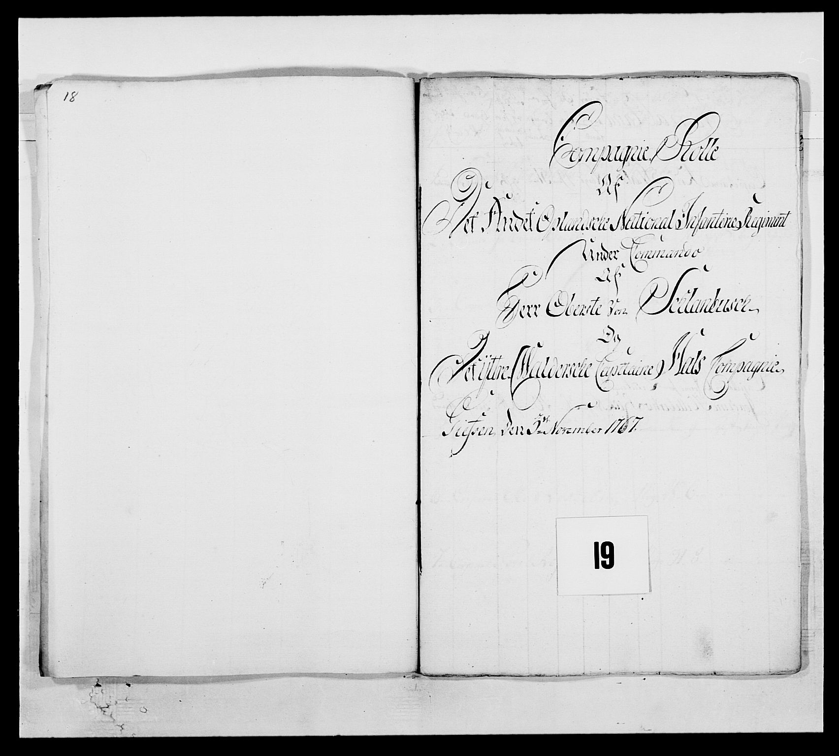 RA, Kommanderende general (KG I) med Det norske krigsdirektorium, E/Ea/L0507: 2. Opplandske regiment, 1766-1767, s. 417