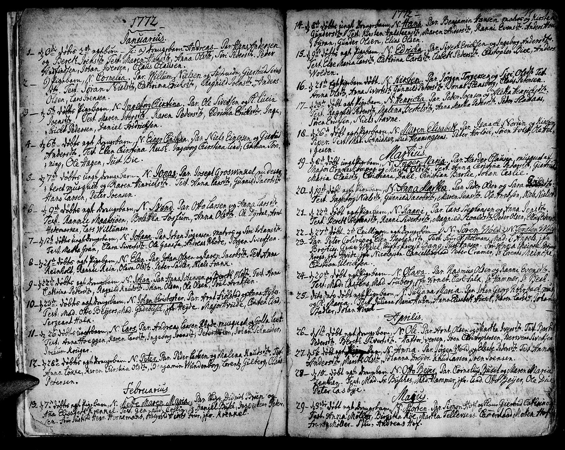 SAT, Ministerialprotokoller, klokkerbøker og fødselsregistre - Sør-Trøndelag, 601/L0039: Ministerialbok nr. 601A07, 1770-1819, s. 11