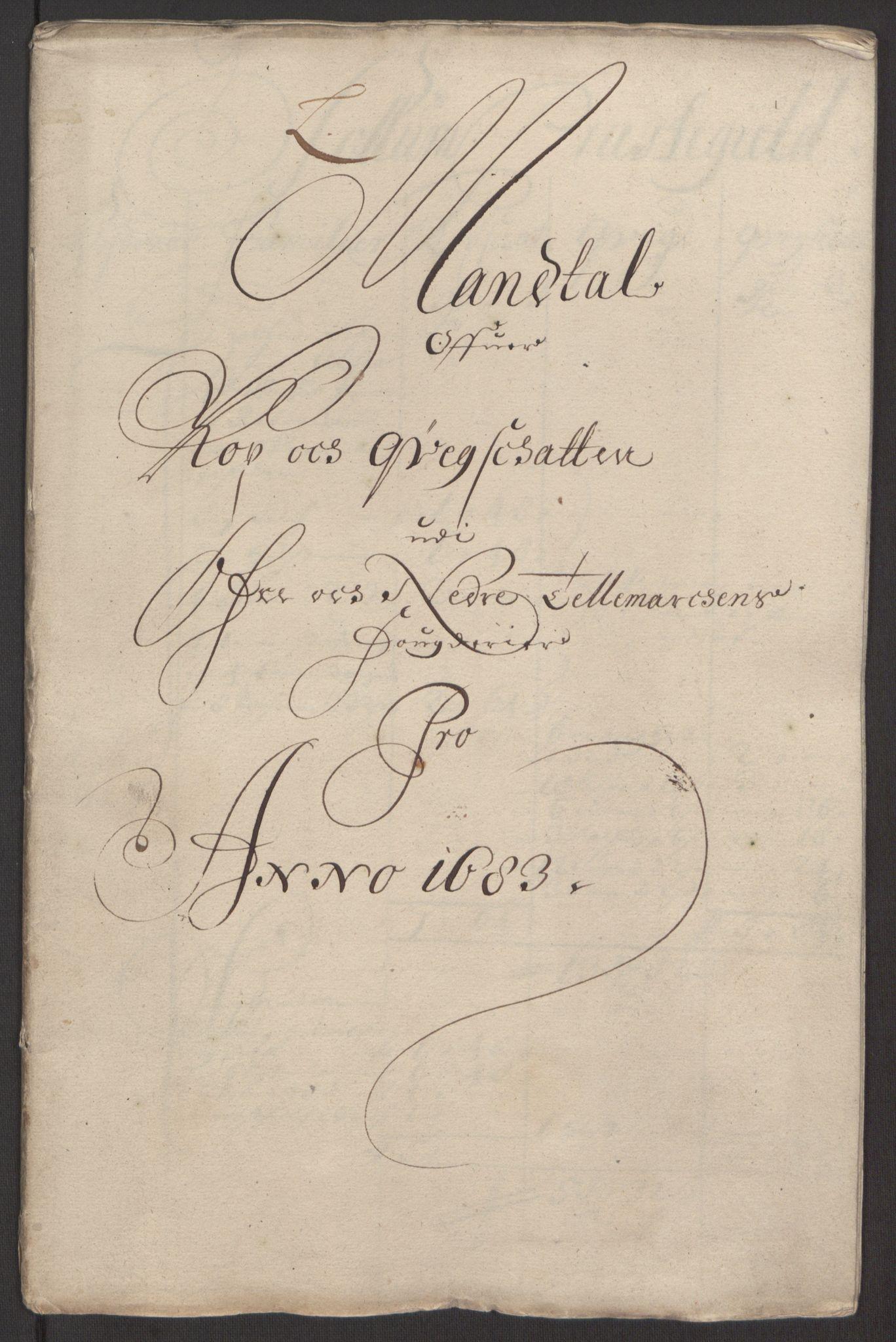 RA, Rentekammeret inntil 1814, Reviderte regnskaper, Fogderegnskap, R35/L2080: Fogderegnskap Øvre og Nedre Telemark, 1680-1684, s. 179