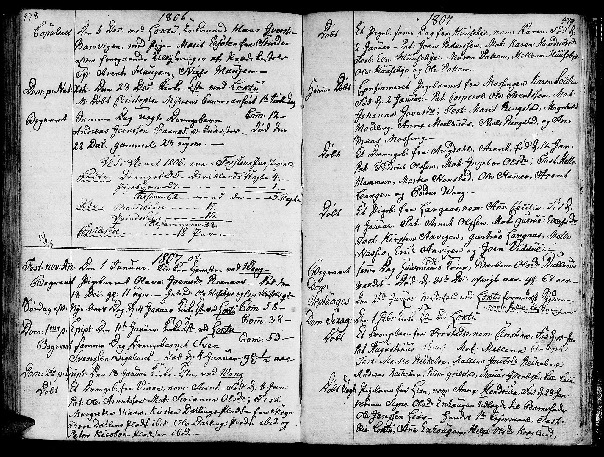 SAT, Ministerialprotokoller, klokkerbøker og fødselsregistre - Nord-Trøndelag, 713/L0110: Ministerialbok nr. 713A02, 1778-1811, s. 478-479