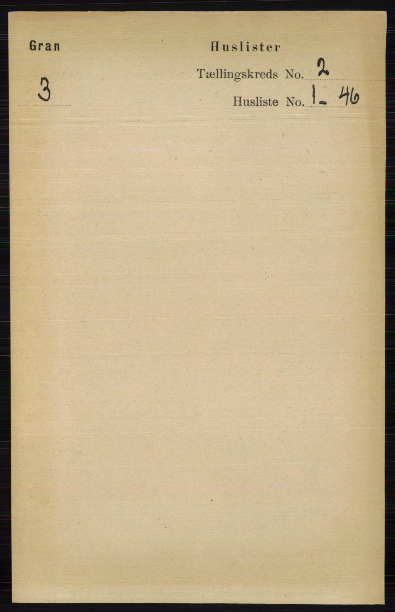 RA, Folketelling 1891 for 0534 Gran herred, 1891, s. 279