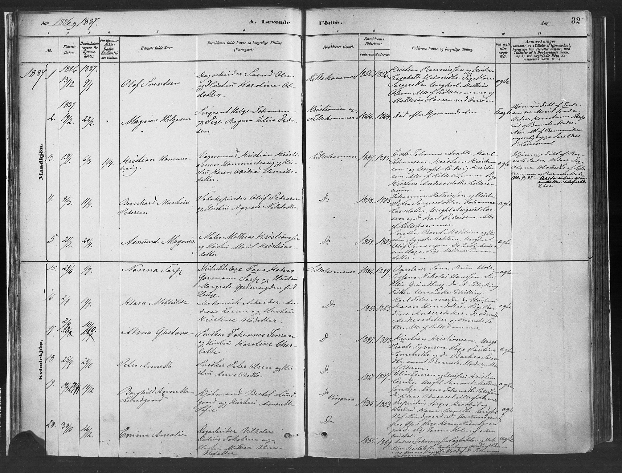 SAH, Fåberg prestekontor, Ministerialbok nr. 10, 1879-1900, s. 32