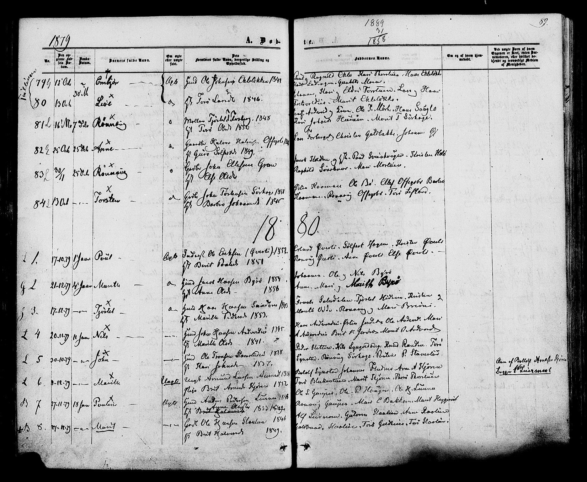 SAH, Lom prestekontor, K/L0007: Ministerialbok nr. 7, 1863-1884, s. 89