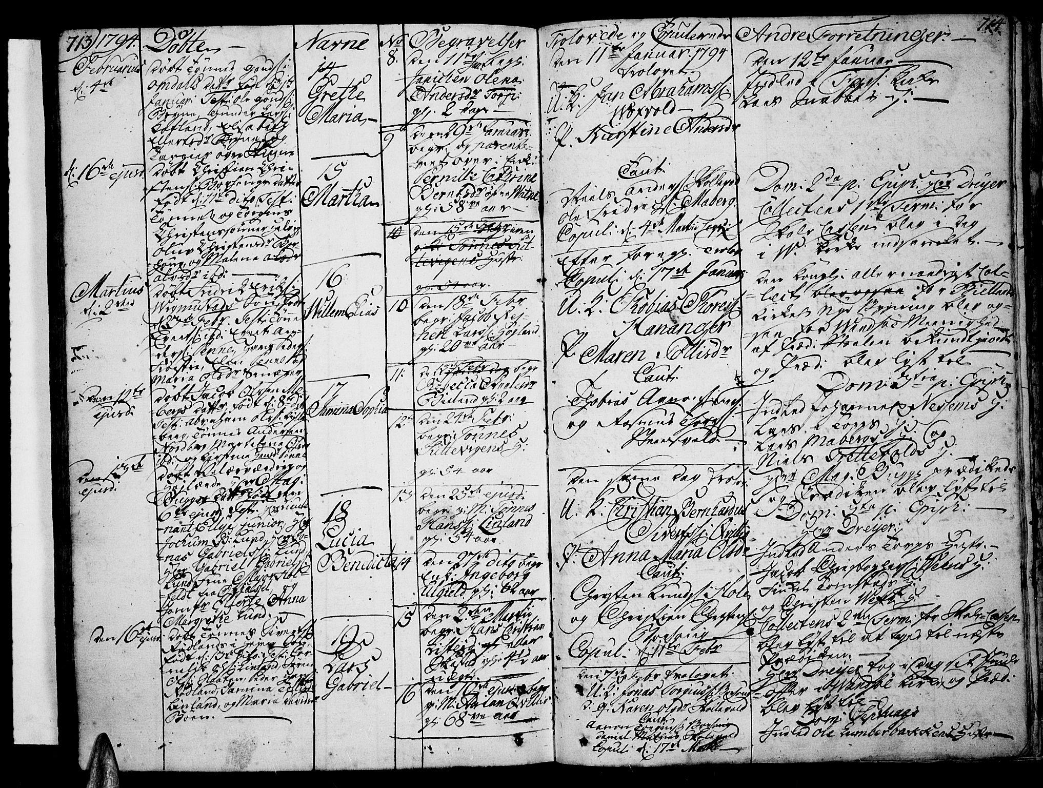 SAK, Lista sokneprestkontor, F/Fa/L0004: Ministerialbok nr. A 4, 1768-1794, s. 713-714