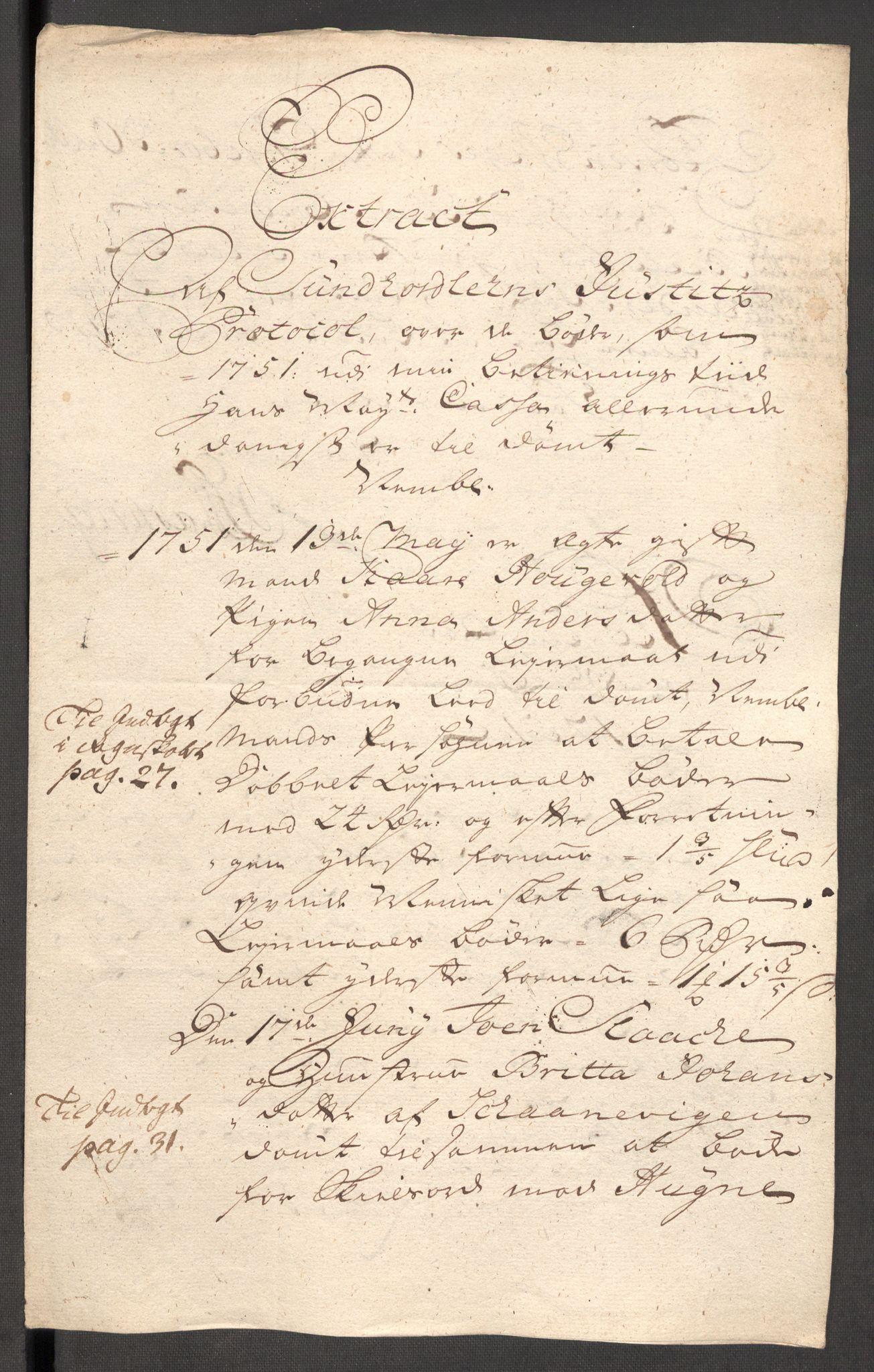 RA, Rentekammeret inntil 1814, Reviderte regnskaper, Fogderegnskap, R48/L3056: Fogderegnskap Sunnhordland og Hardanger, 1751, s. 198