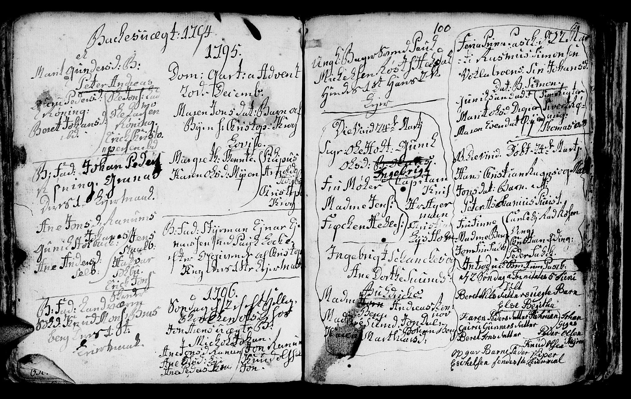 SAT, Ministerialprotokoller, klokkerbøker og fødselsregistre - Sør-Trøndelag, 604/L0218: Klokkerbok nr. 604C01, 1754-1819, s. 100