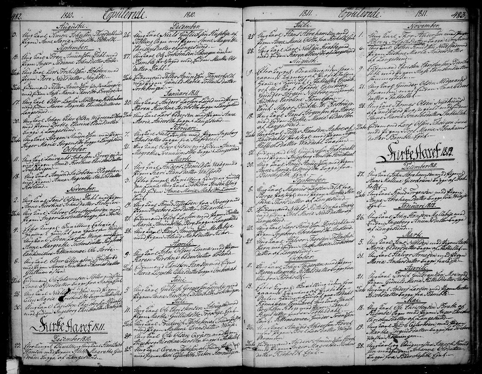 SAKO, Bamble kirkebøker, F/Fa/L0002: Ministerialbok nr. I 2, 1775-1814, s. 482-483