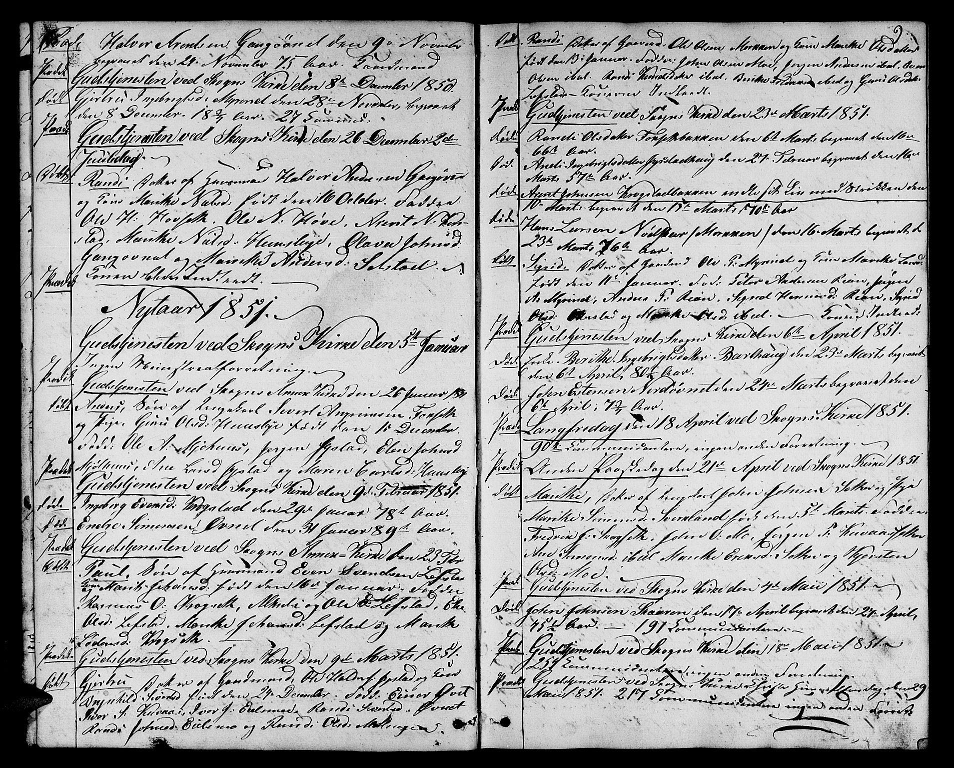 SAT, Ministerialprotokoller, klokkerbøker og fødselsregistre - Sør-Trøndelag, 667/L0797: Klokkerbok nr. 667C02, 1849-1867, s. 9