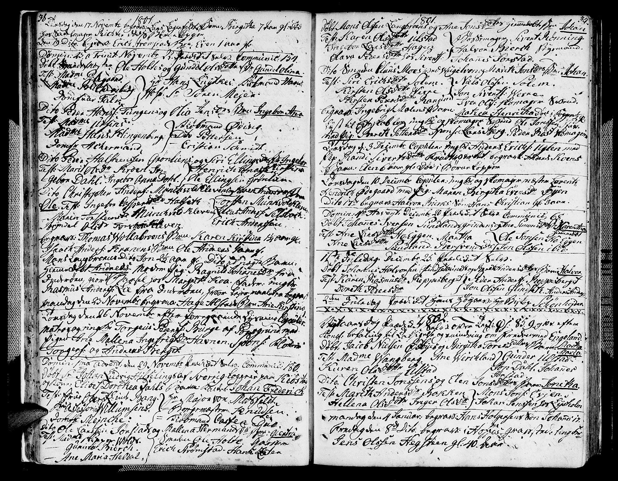 SAT, Ministerialprotokoller, klokkerbøker og fødselsregistre - Sør-Trøndelag, 604/L0181: Ministerialbok nr. 604A02, 1798-1817, s. 38-39