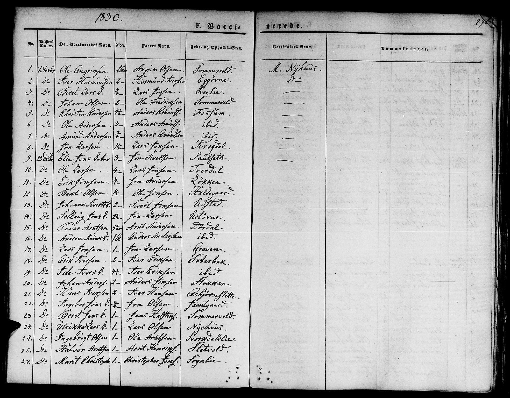 SAT, Ministerialprotokoller, klokkerbøker og fødselsregistre - Sør-Trøndelag, 668/L0804: Ministerialbok nr. 668A04, 1826-1839, s. 295