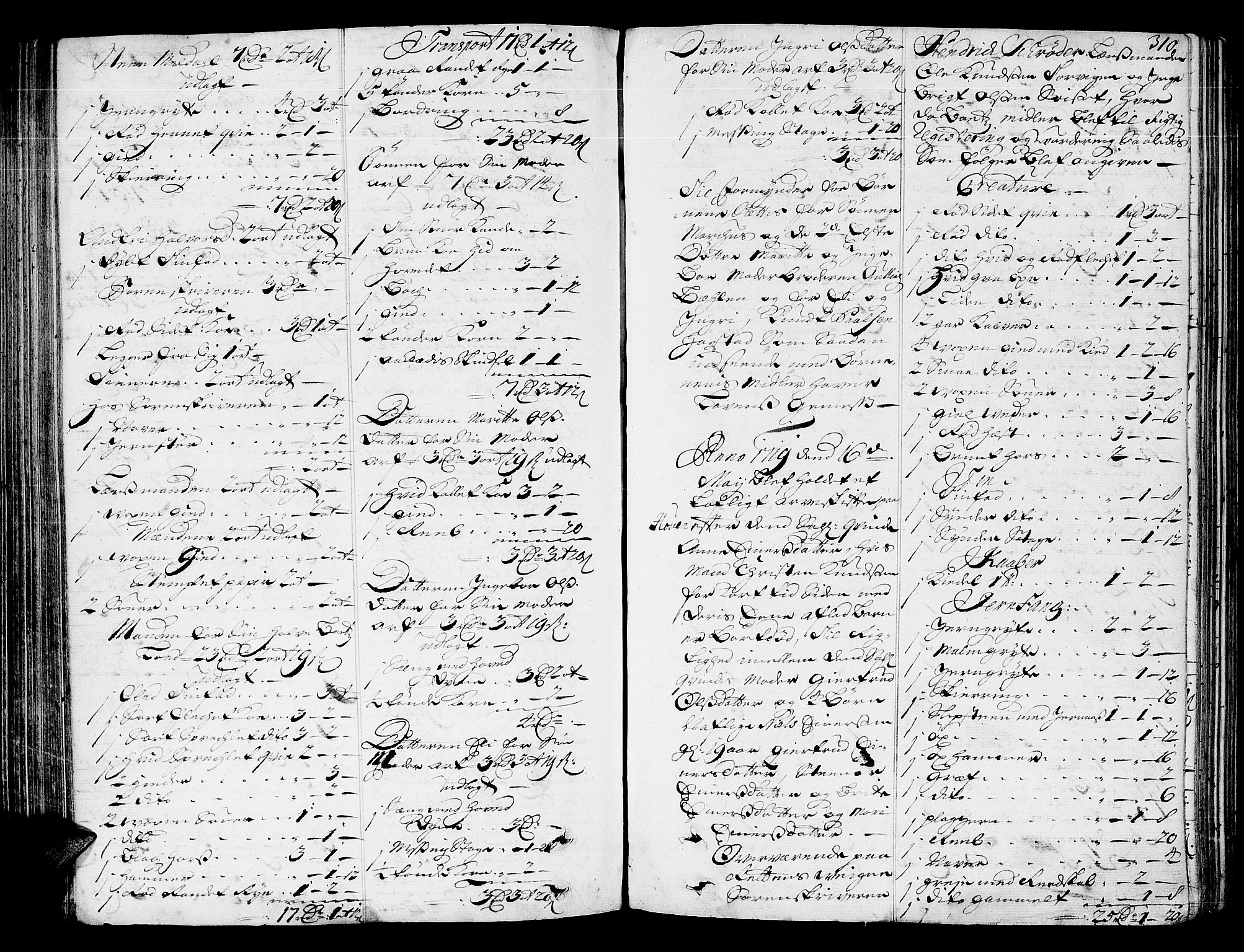 SAT, Nordmøre sorenskriveri, 3/3A/L0005: Skifteprotokoll nr. 5, 1714-1720, s. 309b-310a