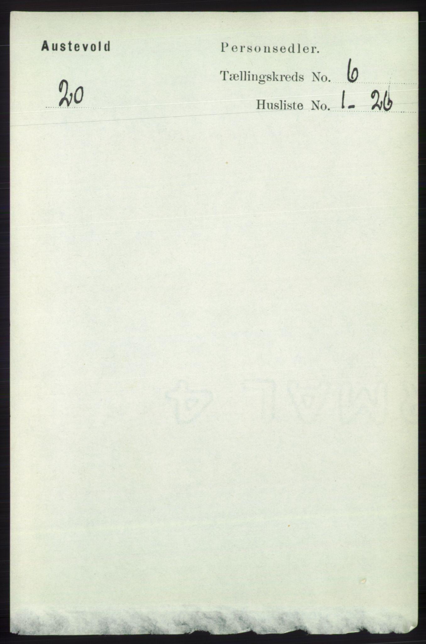 RA, Folketelling 1891 for 1244 Austevoll herred, 1891, s. 2566