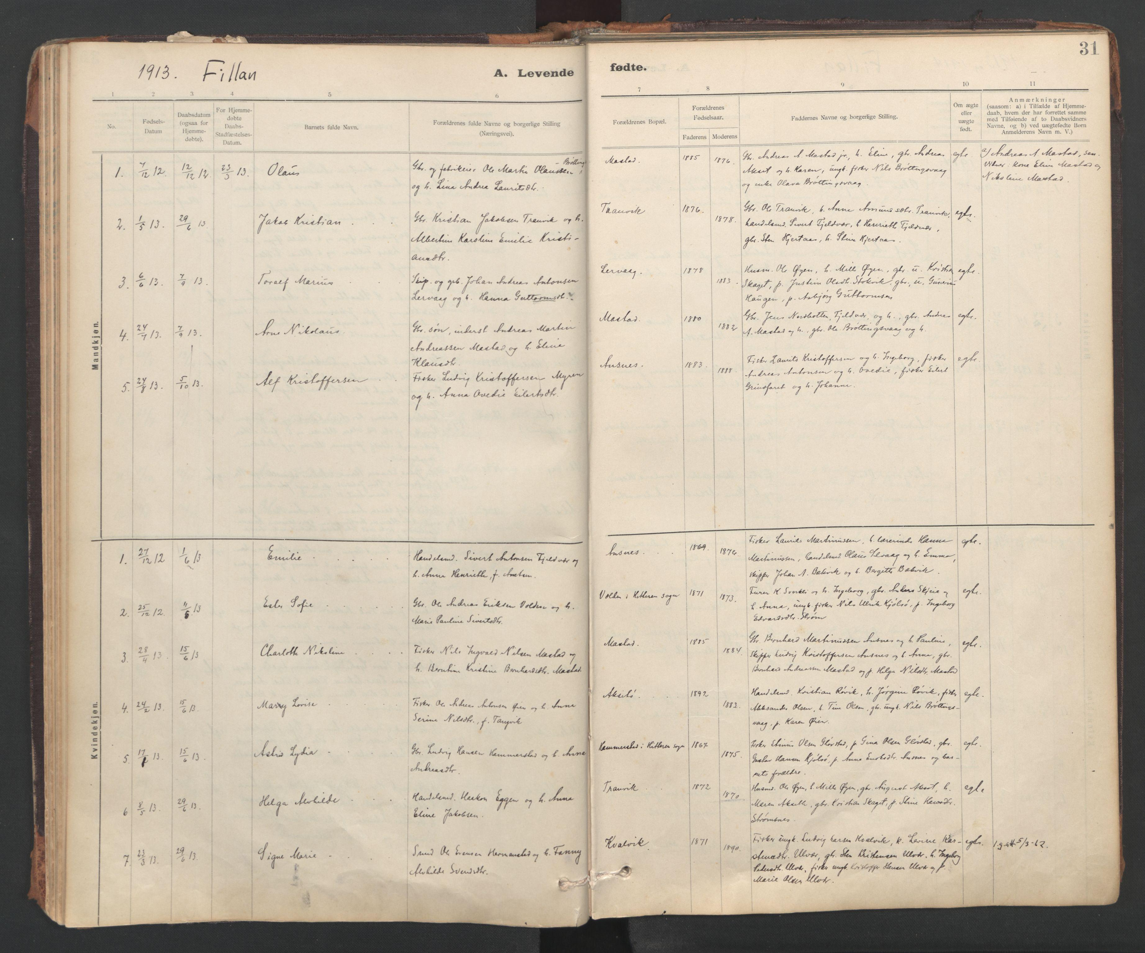 SAT, Ministerialprotokoller, klokkerbøker og fødselsregistre - Sør-Trøndelag, 637/L0559: Ministerialbok nr. 637A02, 1899-1923, s. 31
