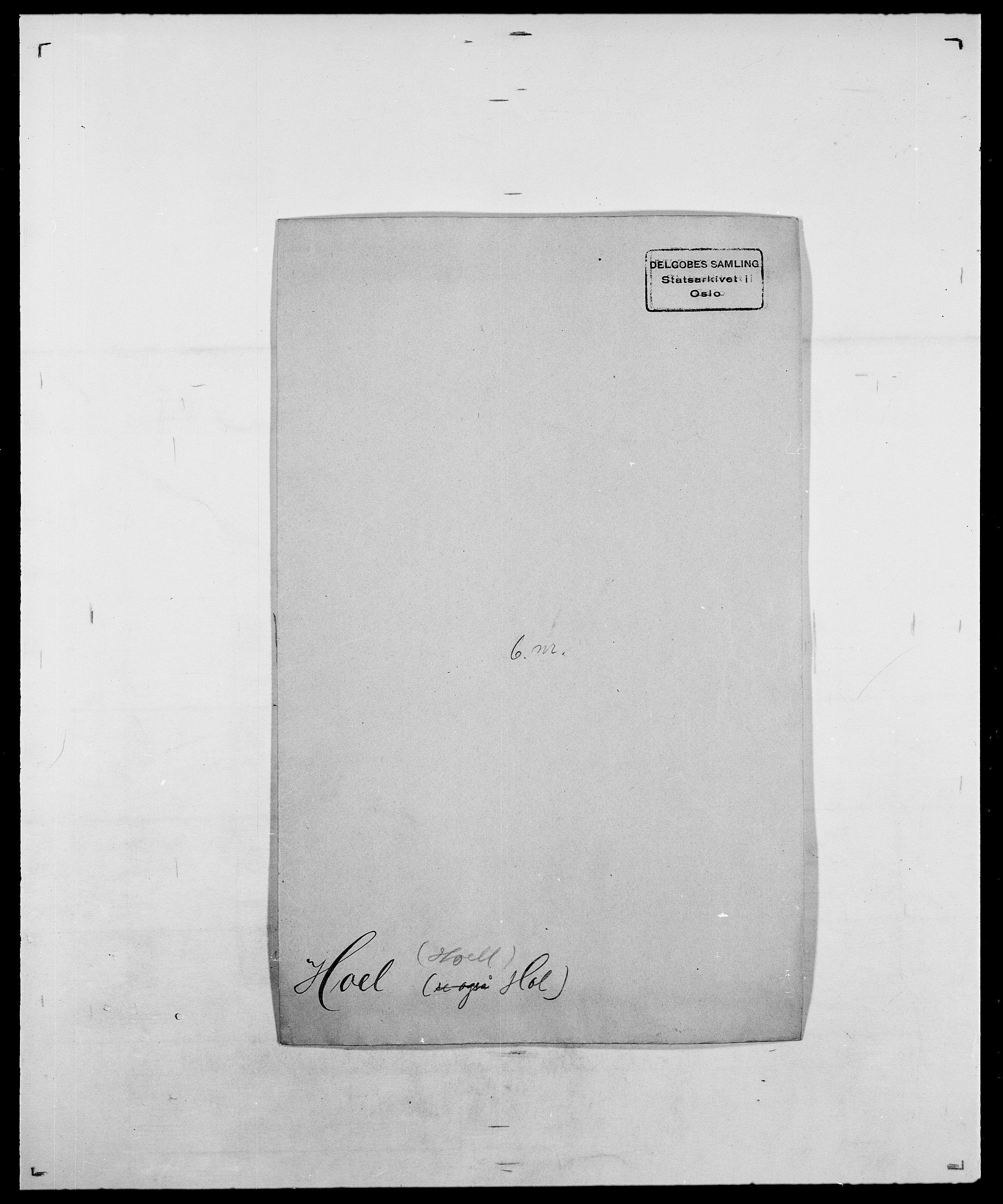 SAO, Delgobe, Charles Antoine - samling, D/Da/L0018: Hoch - Howert, s. 16