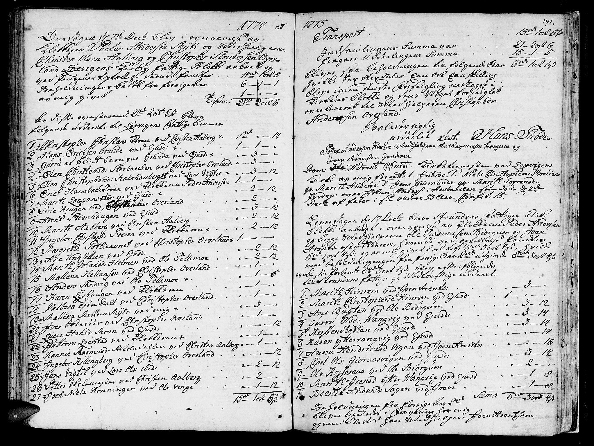 SAT, Ministerialprotokoller, klokkerbøker og fødselsregistre - Nord-Trøndelag, 701/L0003: Ministerialbok nr. 701A03, 1751-1783, s. 141