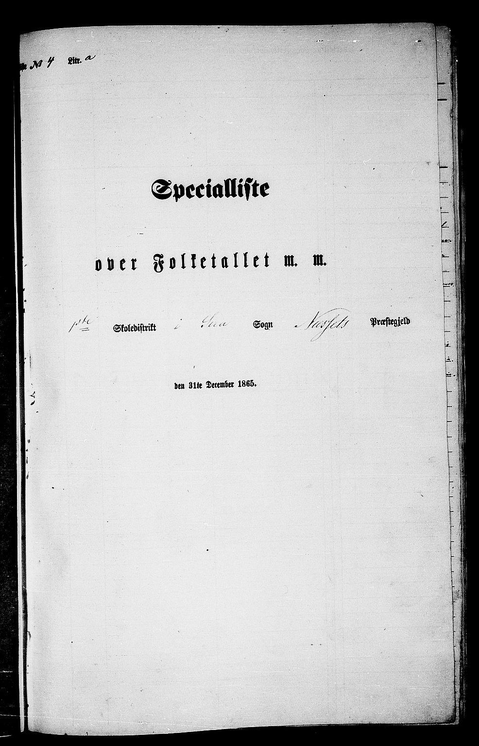 RA, Folketelling 1865 for 1543P Nesset prestegjeld, 1865, s. 72