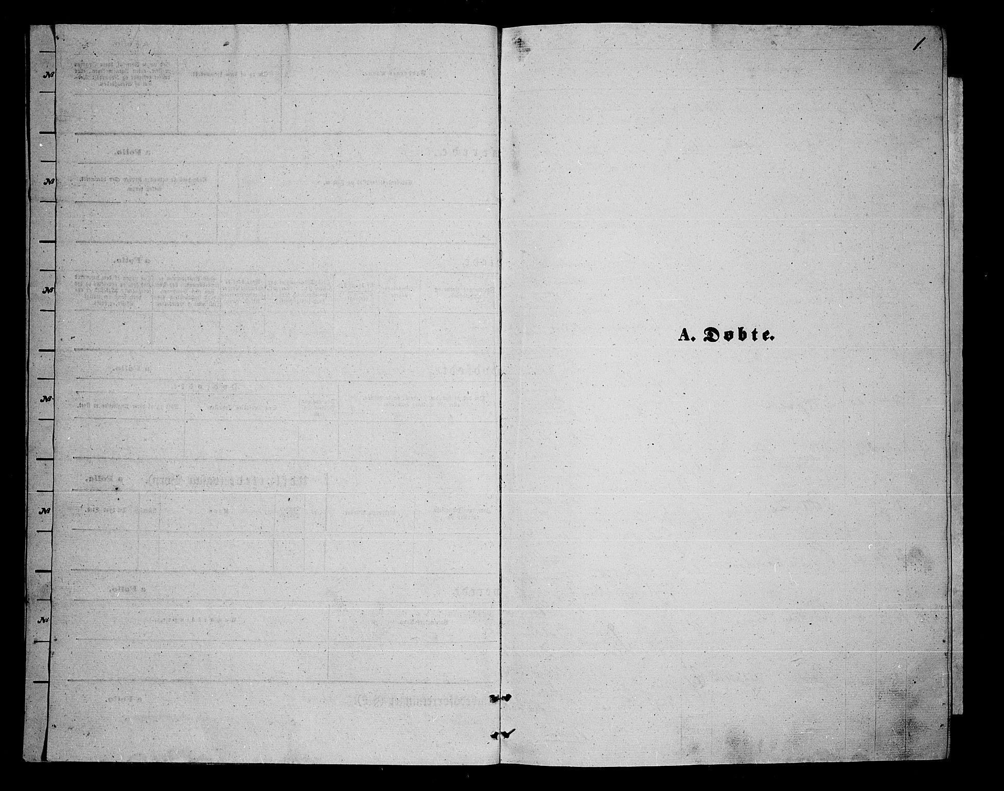 SATØ, Trondenes sokneprestkontor, H/Hb/L0009klokker: Klokkerbok nr. 9, 1870-1876, s. 1