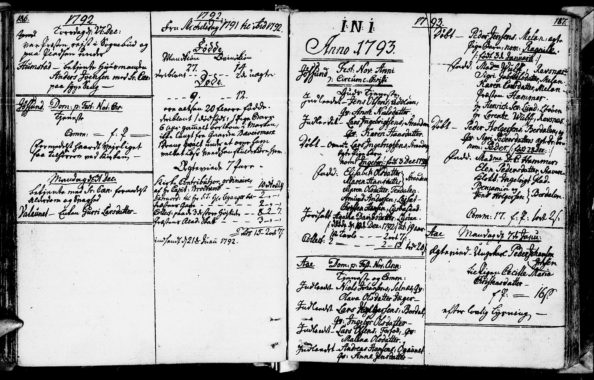SAT, Ministerialprotokoller, klokkerbøker og fødselsregistre - Sør-Trøndelag, 655/L0673: Ministerialbok nr. 655A02, 1780-1801, s. 186-187