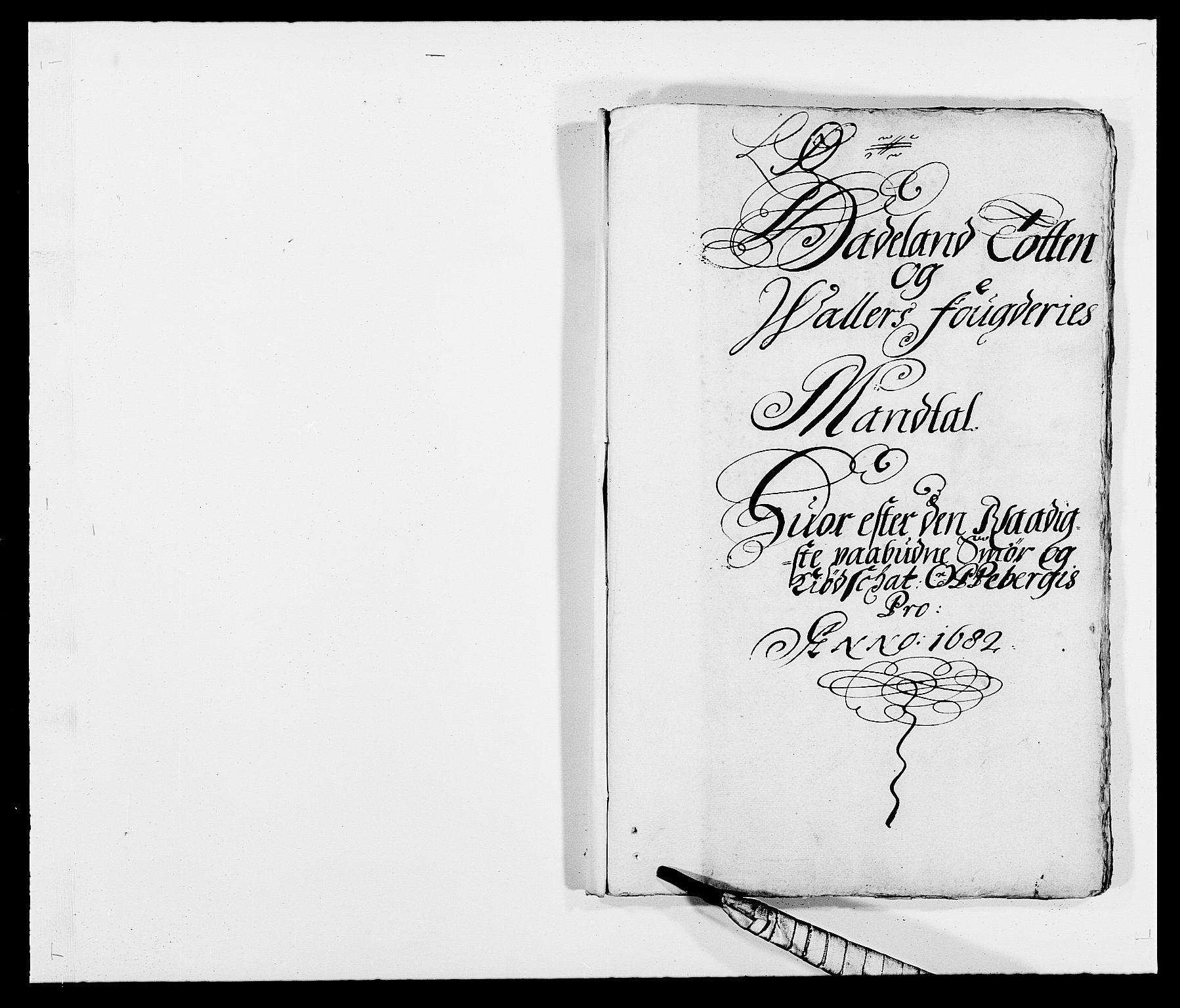 RA, Rentekammeret inntil 1814, Reviderte regnskaper, Fogderegnskap, R18/L1281: Fogderegnskap Hadeland, Toten og Valdres, 1682, s. 1
