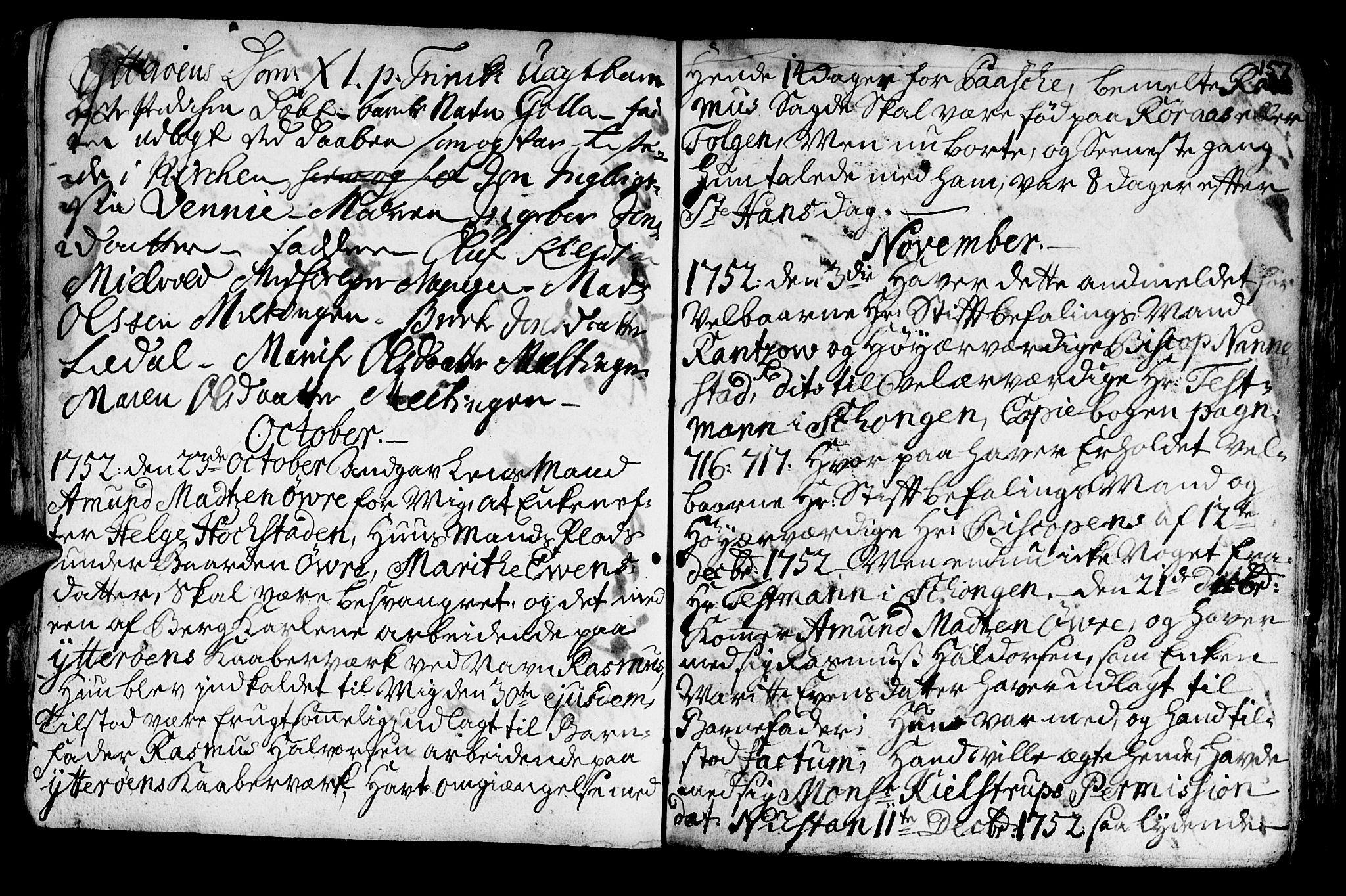 SAT, Ministerialprotokoller, klokkerbøker og fødselsregistre - Nord-Trøndelag, 722/L0215: Ministerialbok nr. 722A02, 1718-1755, s. 157