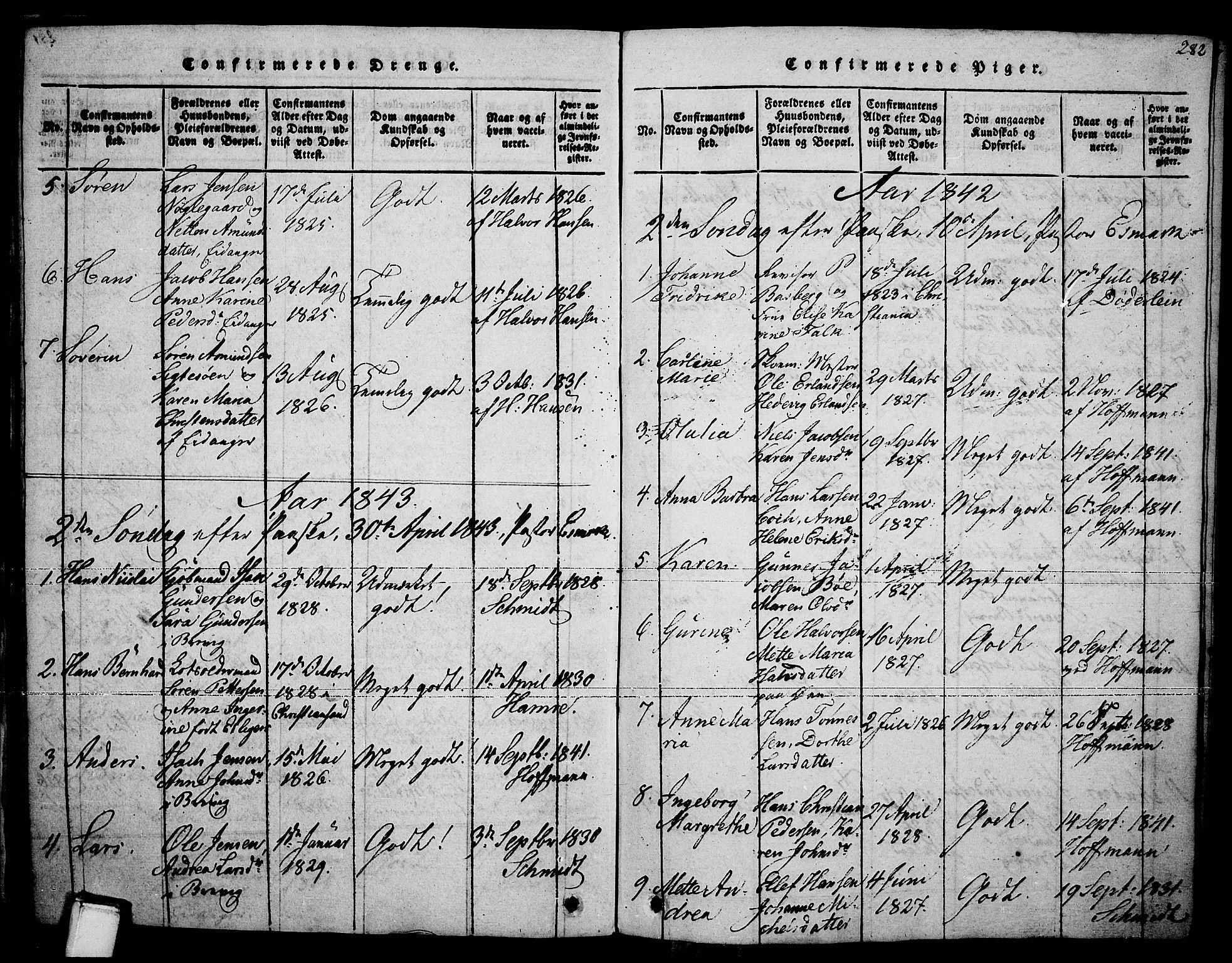 SAKO, Brevik kirkebøker, F/Fa/L0004: Ministerialbok nr. 4, 1814-1846, s. 282